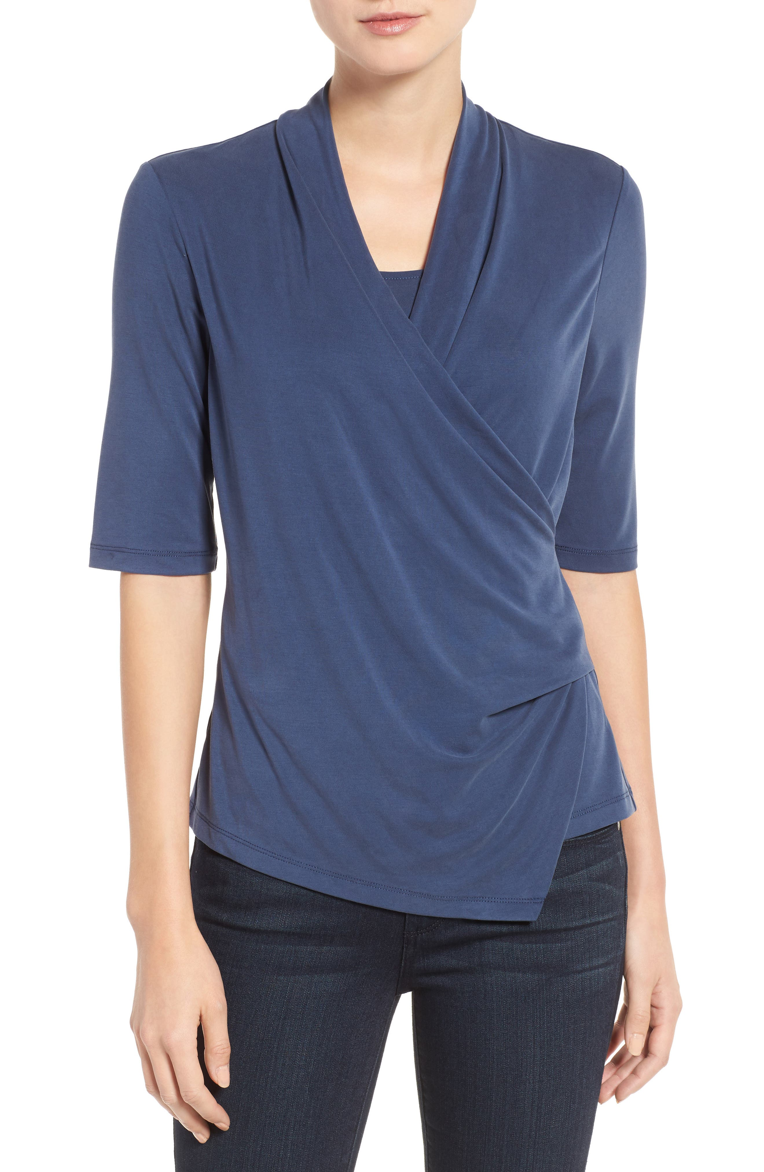 NIC+ZOE City Retreat Faux Wrap Top