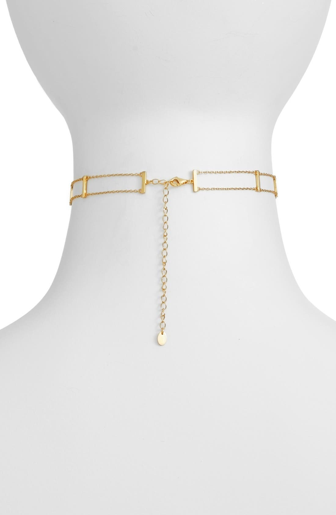 Chain Choker,                             Alternate thumbnail 2, color,                             Gold