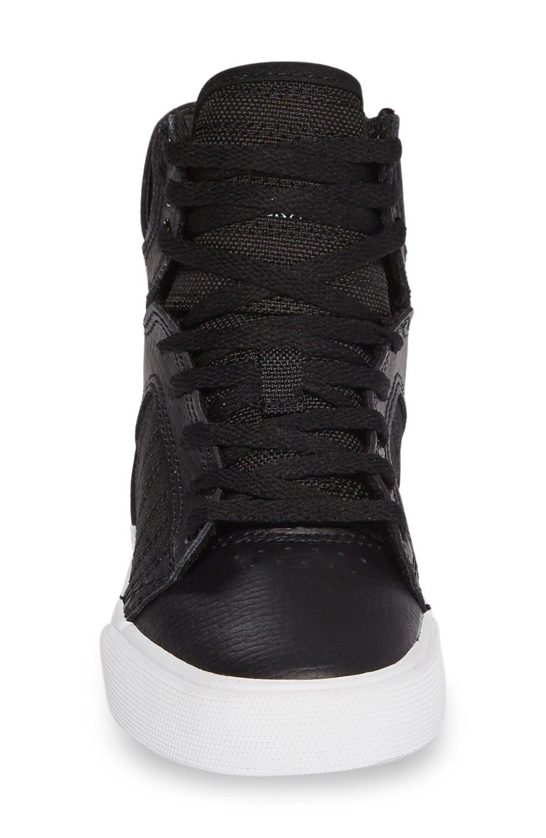 'Skytop' High Top Sneaker,                             Alternate thumbnail 3, color,                             Black/ White