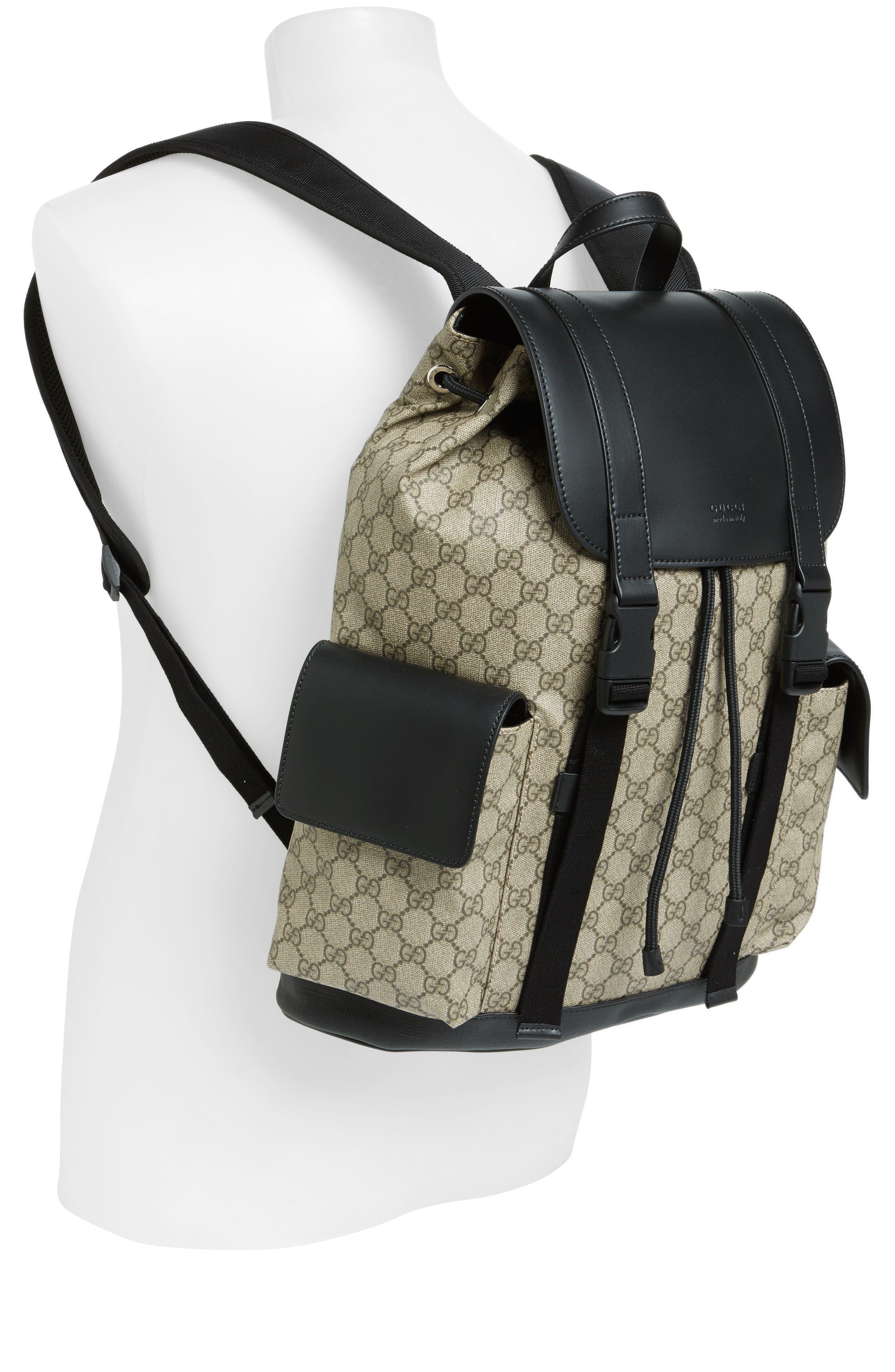Alternate Image 2  - Gucci Eden Flap Top Canvas Backpack