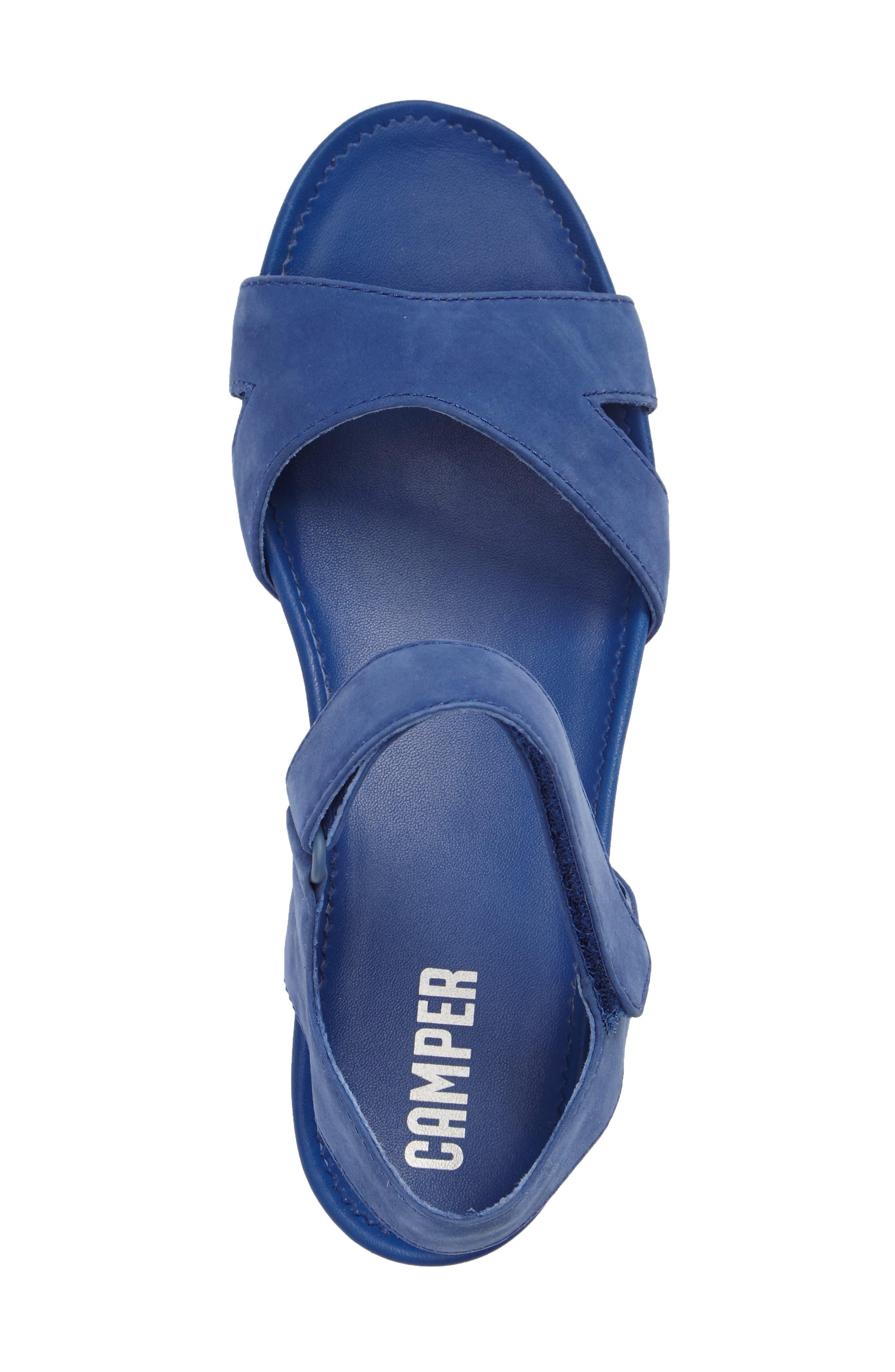'Micro' Sandal,                             Alternate thumbnail 3, color,                             Blue Leather