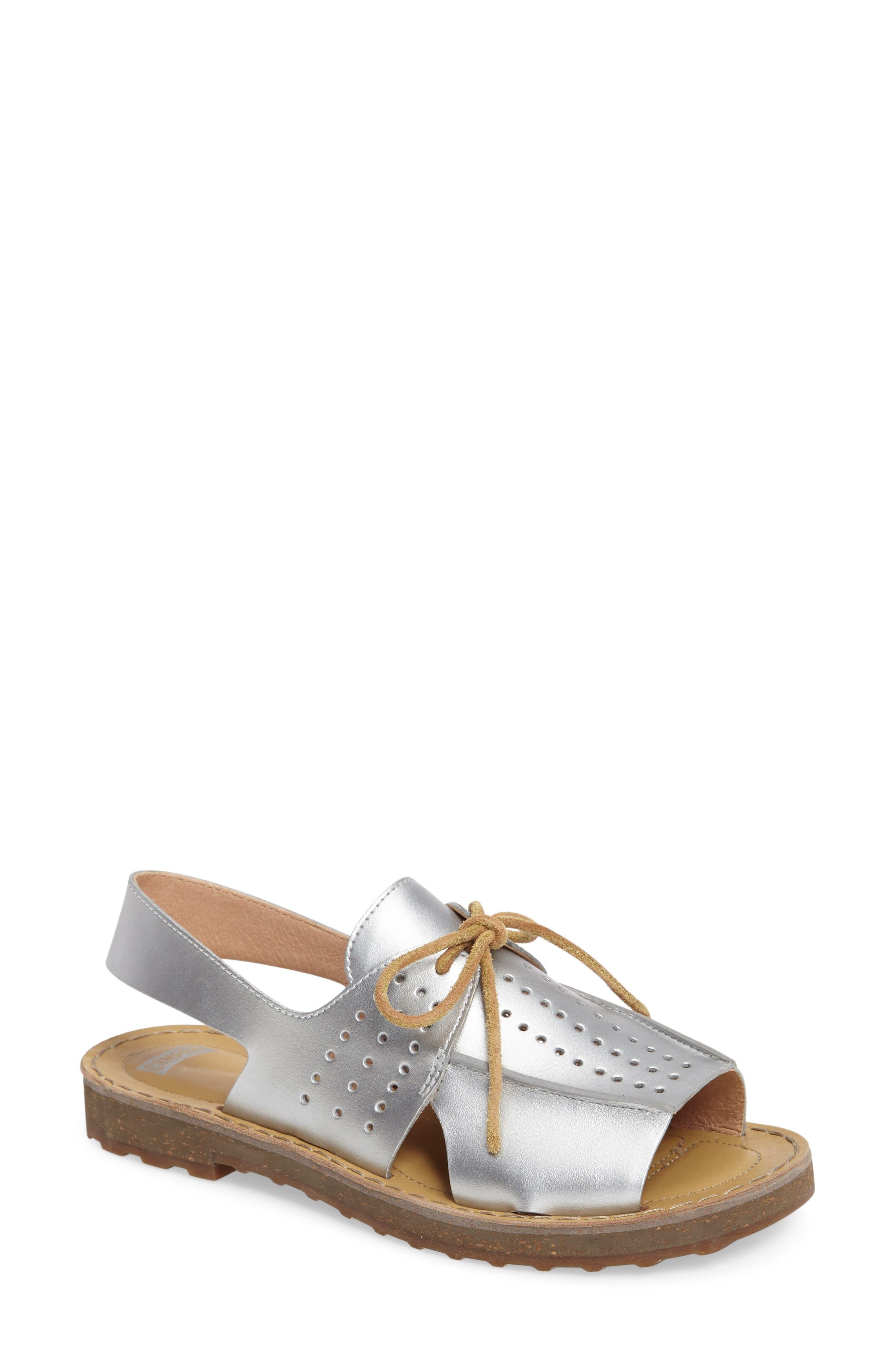 Alternate Image 1 Selected - Camper Lace-Up Sandal (Women)