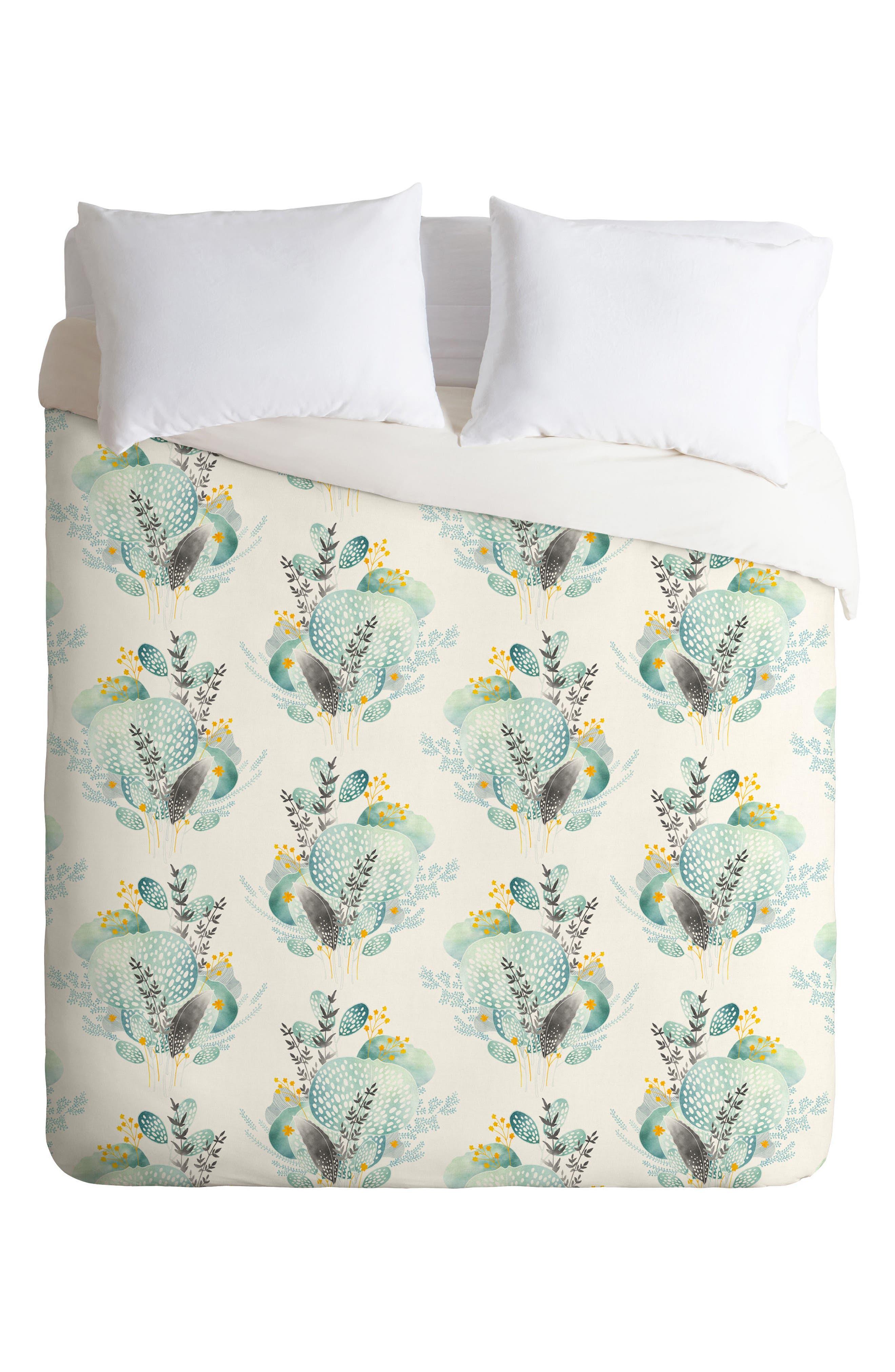 Alternate Image 1 Selected - Deny Designs Seaflower Duvet Cover & Sham Set