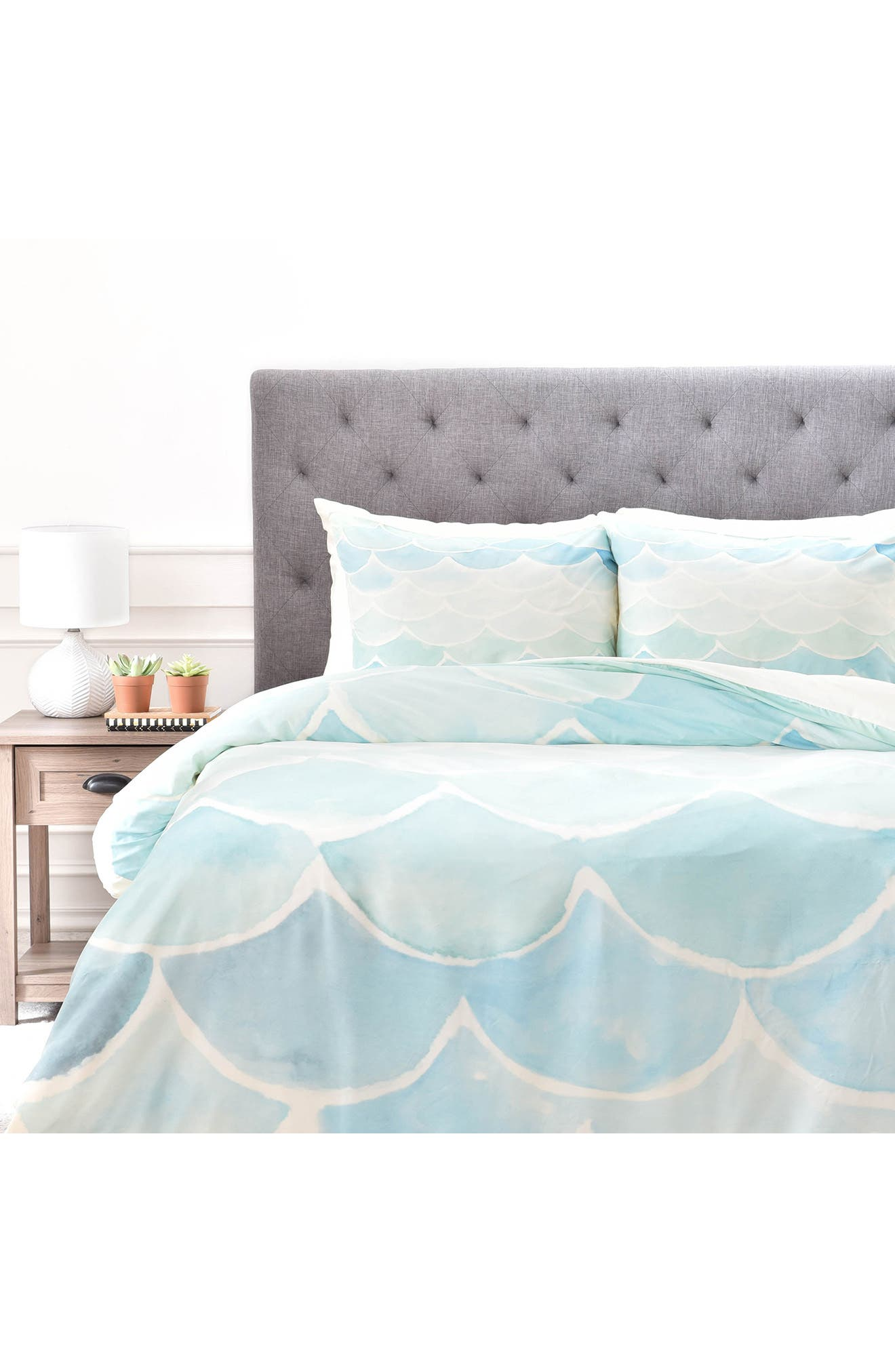 Alternate Image 2  - DENY Designs Mermaid Scales Duvet Cover & Sham Set