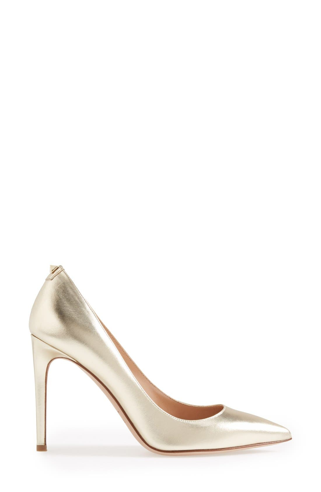 'Rockstud' Pump,                             Alternate thumbnail 4, color,                             Platino