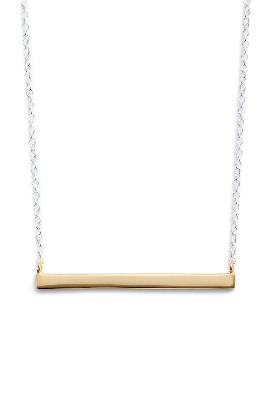Argento Vivo Bar Pendant Necklace