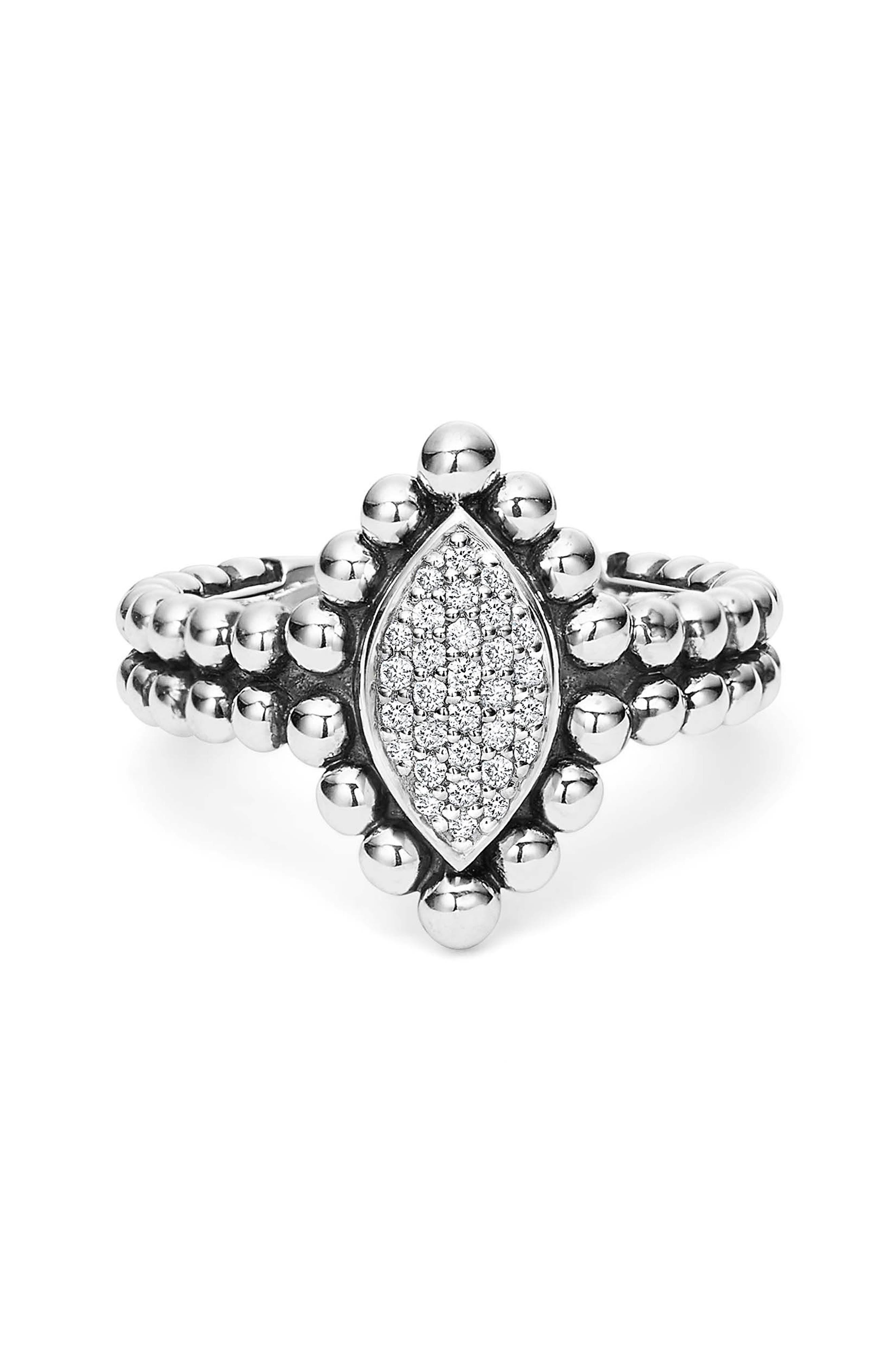 Alternate Image 2  - LAGOS Caviar Spark Diamond Marquise Ring