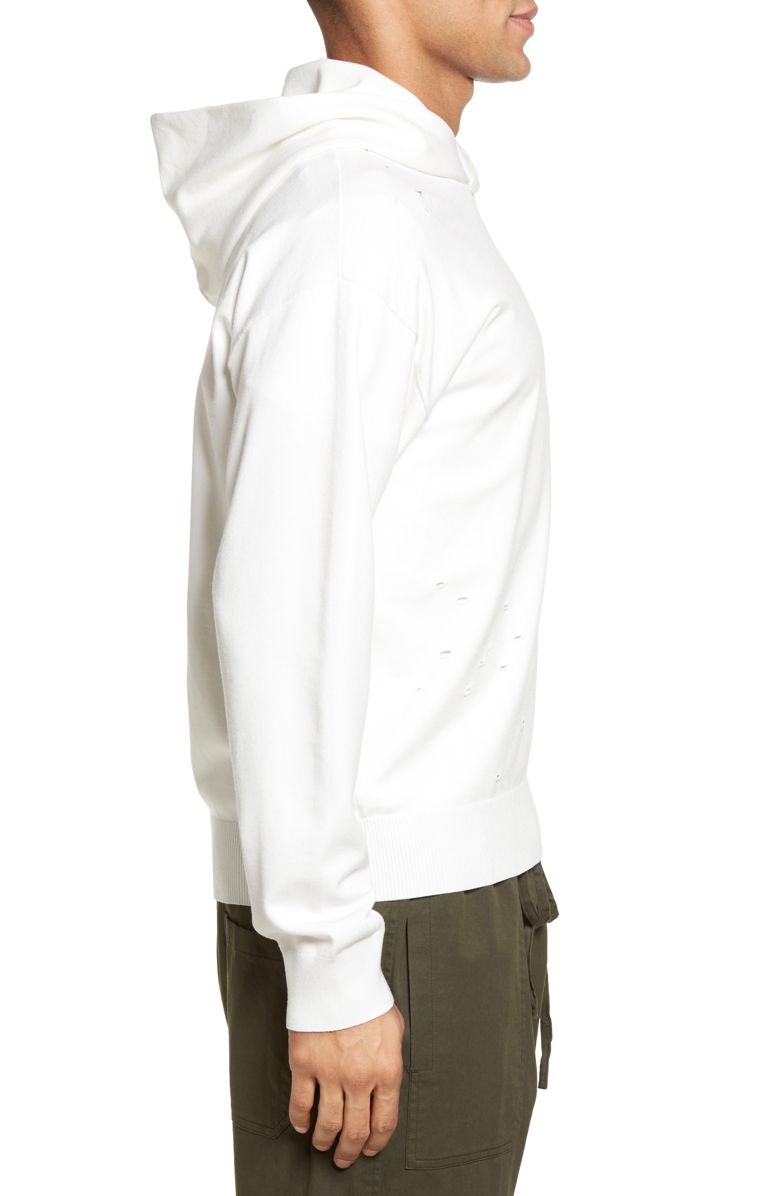 Alternate Image 3  - Vince Distressed Pullover Hoodie