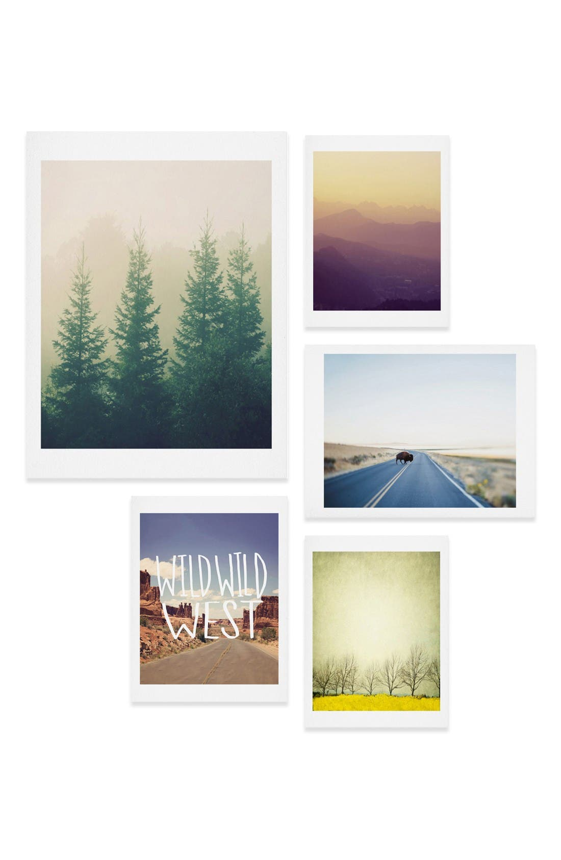 Main Image - DENY Designs Adventure Five-Piece Gallery Wall Art Print Set