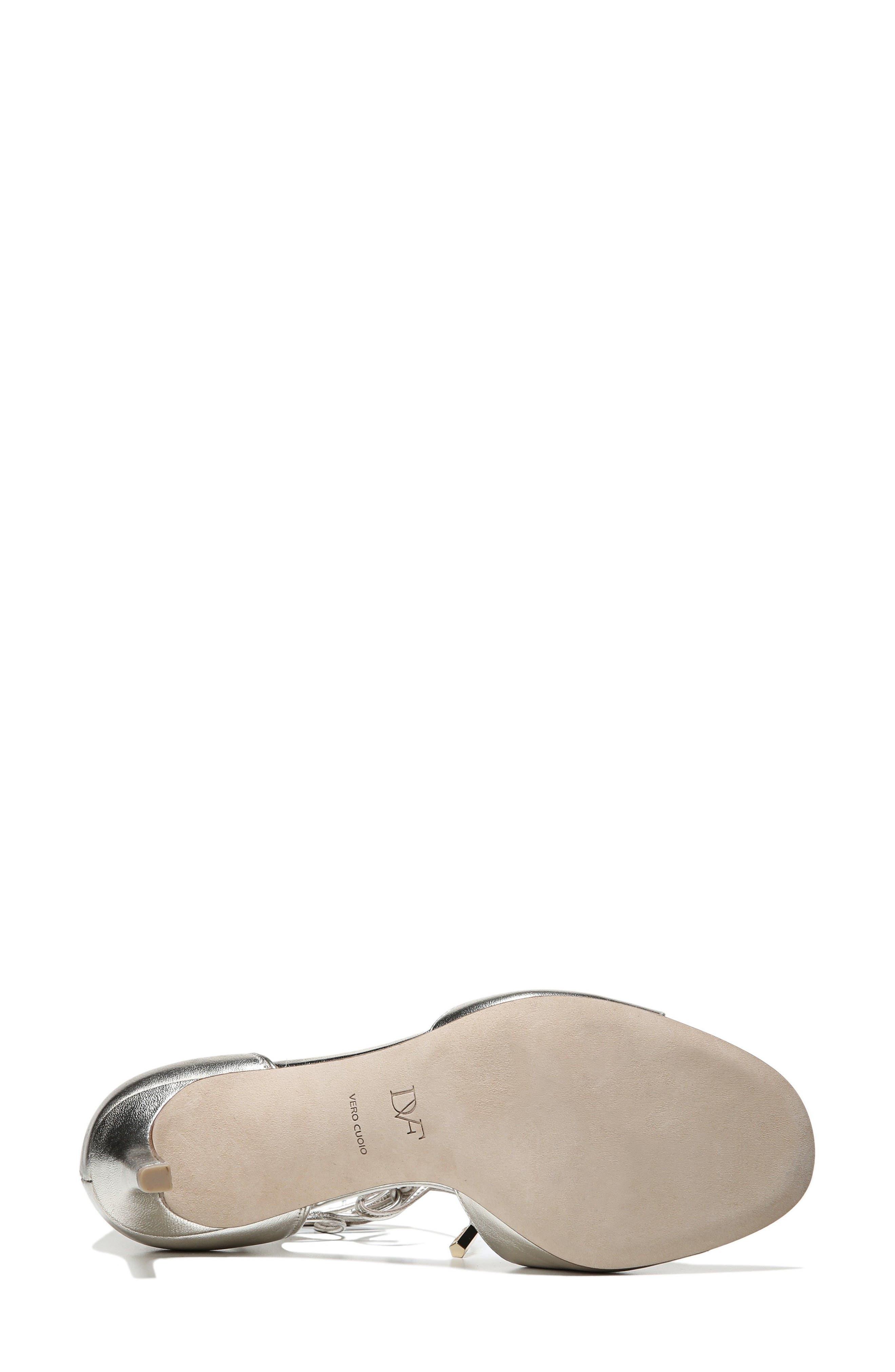 'Rimini' Ankle Wrap Sandal,                             Alternate thumbnail 4, color,                             Platino