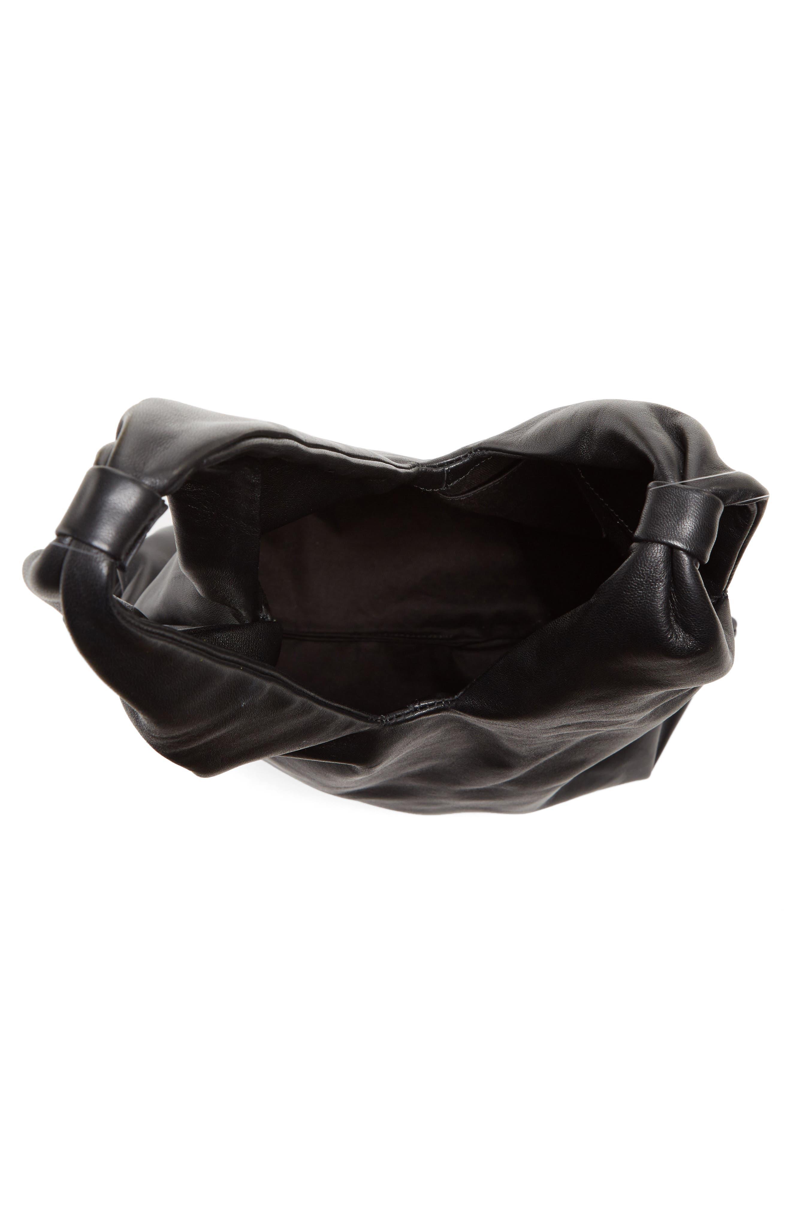 Large Nappa Leather Malia Bag,                             Alternate thumbnail 4, color,                             Black