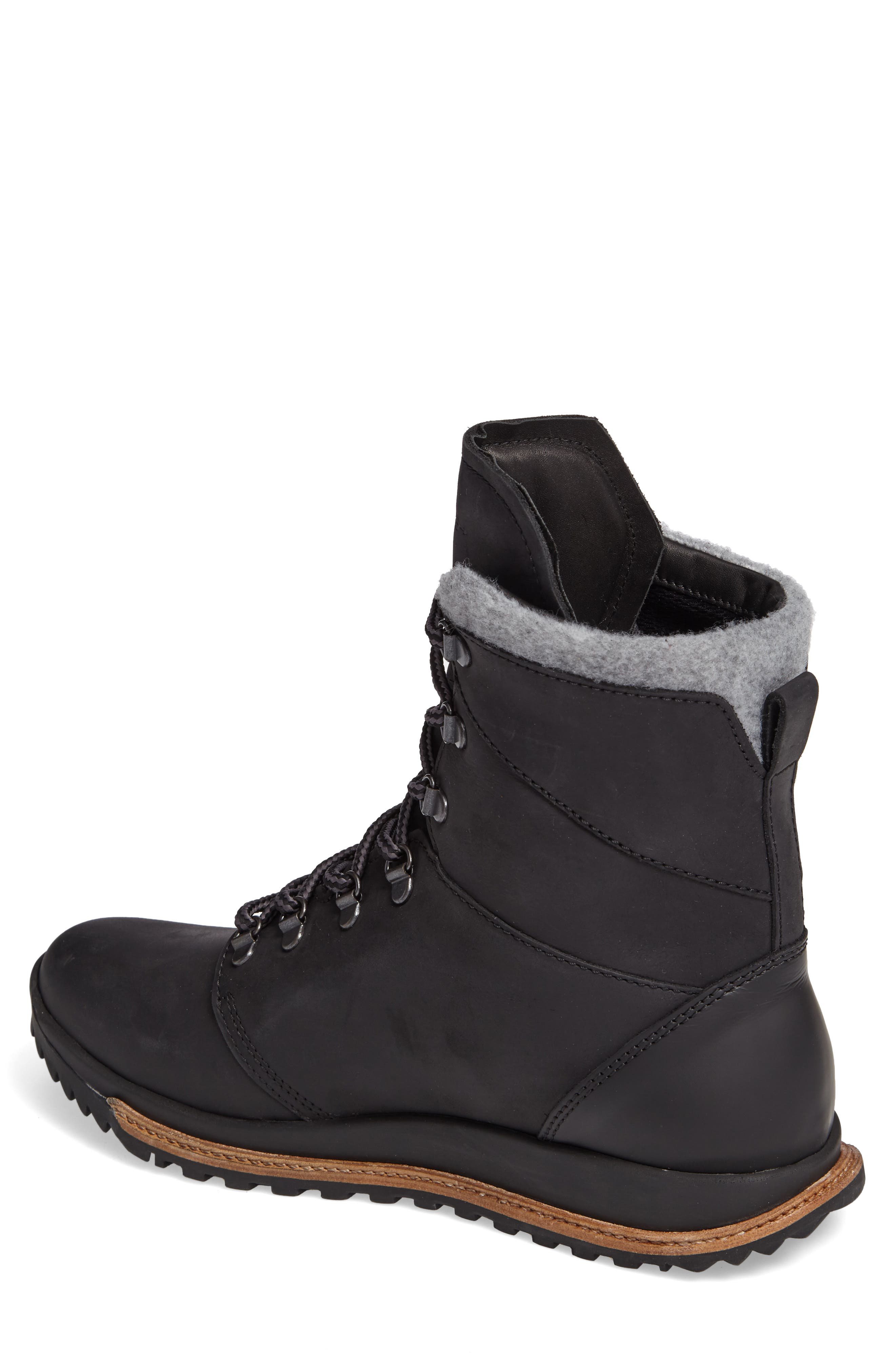Tall Boot,                             Alternate thumbnail 2, color,                             Black Leather