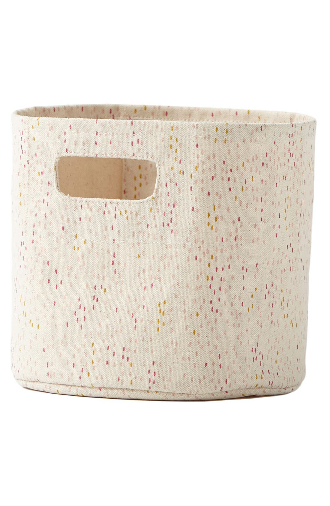 Showers Mini Canvas Bin,                             Main thumbnail 1, color,                             Pink
