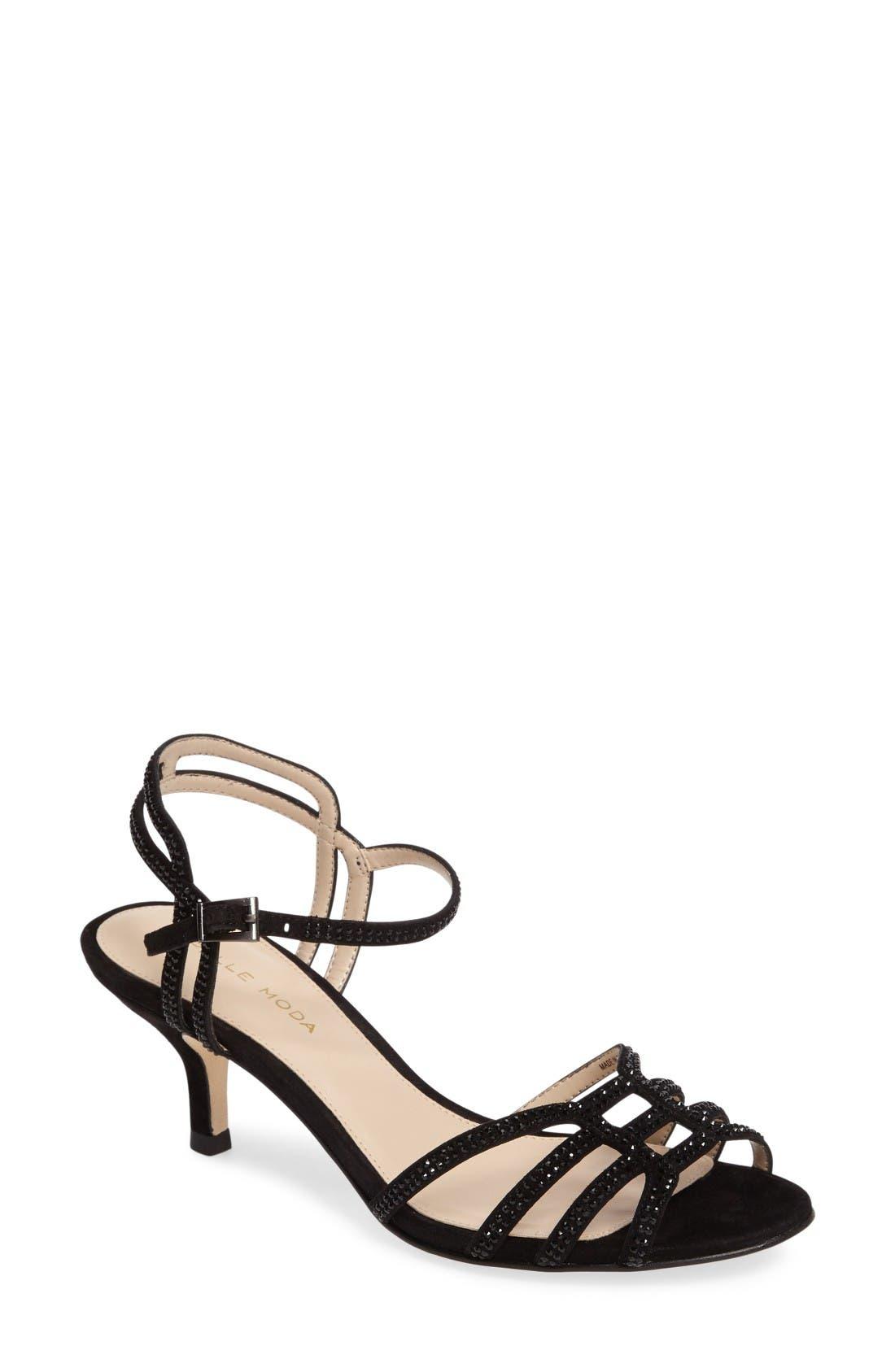 PELLE MODA Alia Embellished Strappy Sandal