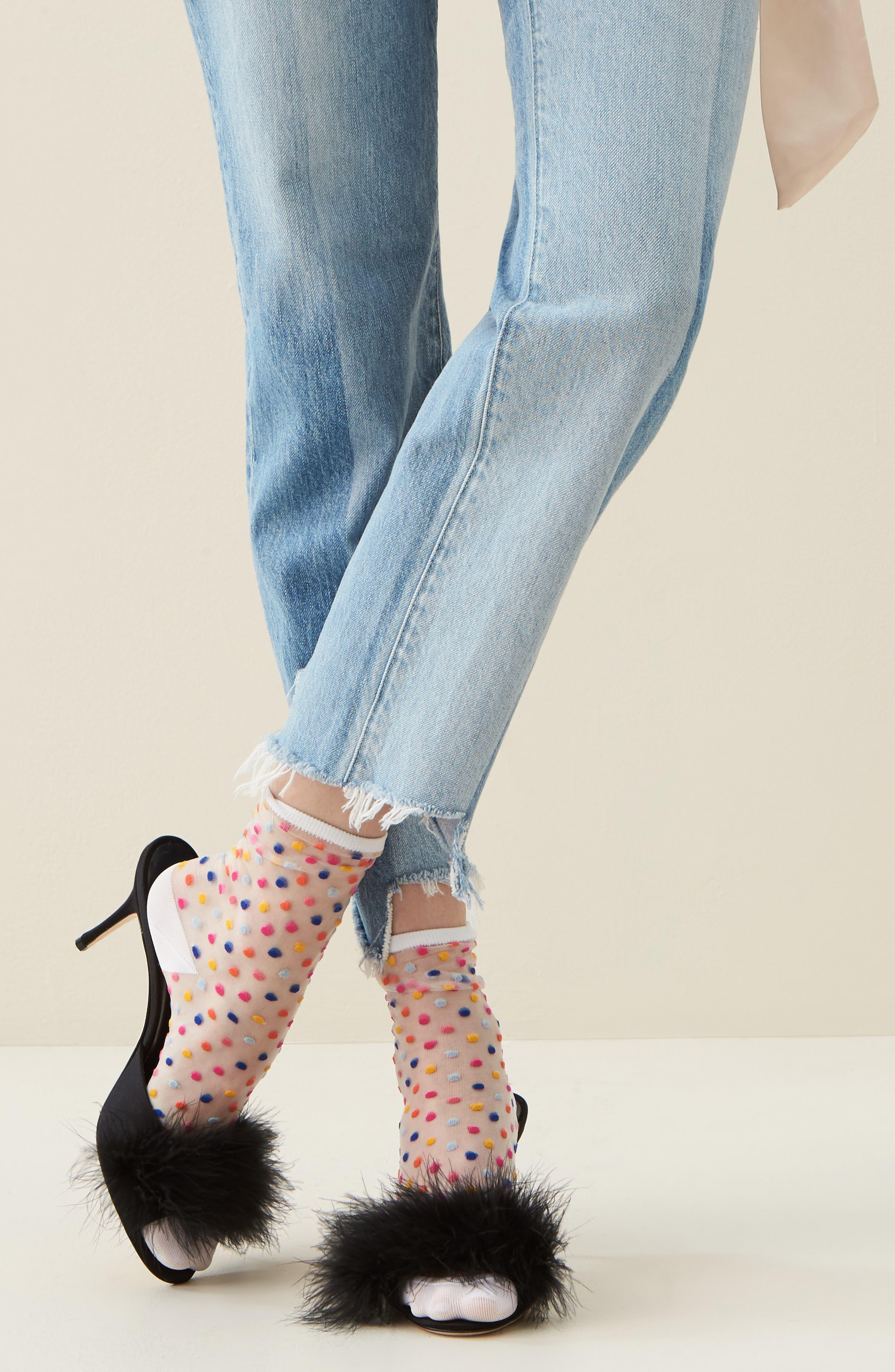 trouser socks,                             Alternate thumbnail 3, color,                             White