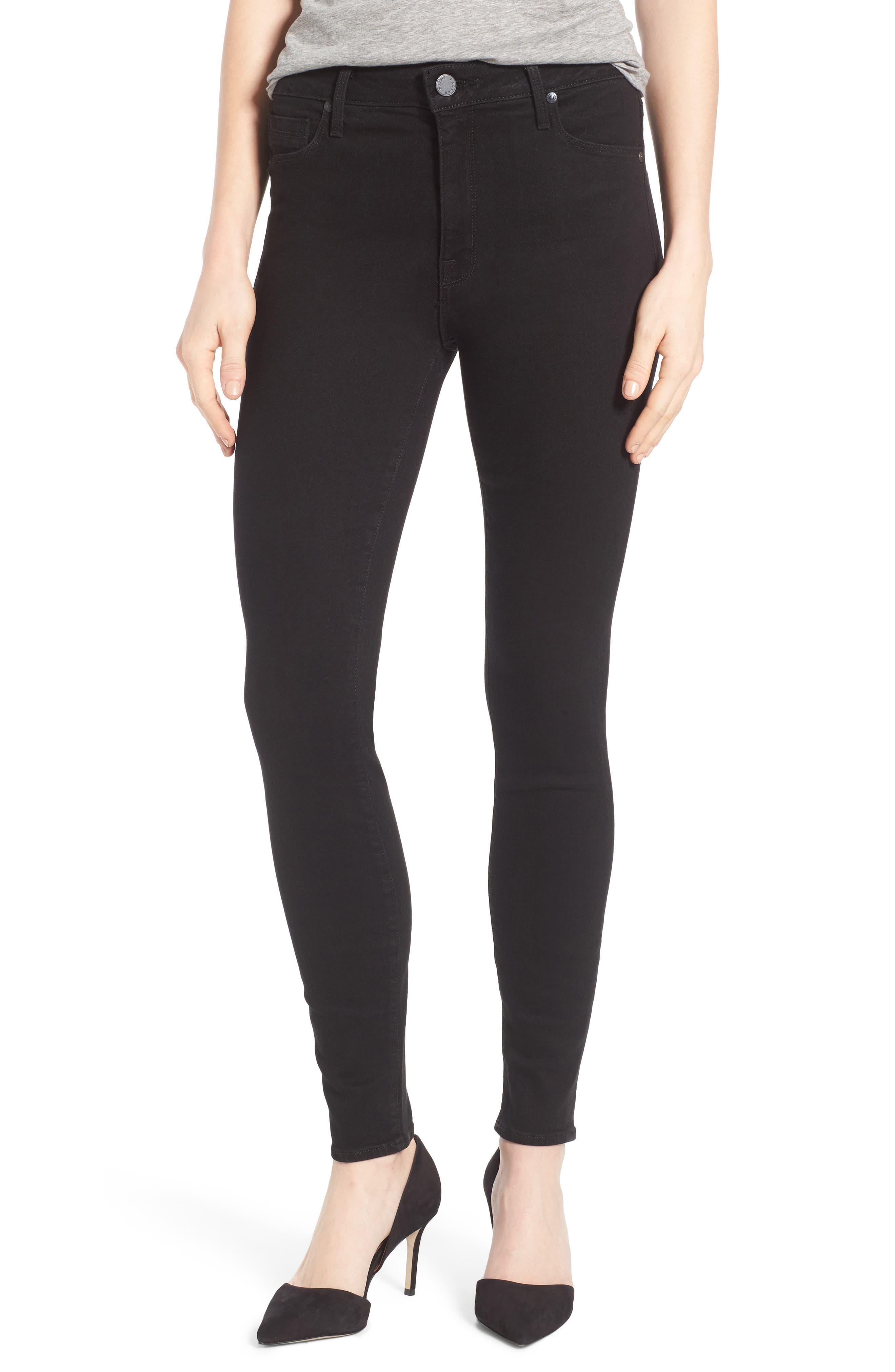 Main Image - PARKER SMITH Bombshell High Waist Stretch Skinny Jeans (Stallion)