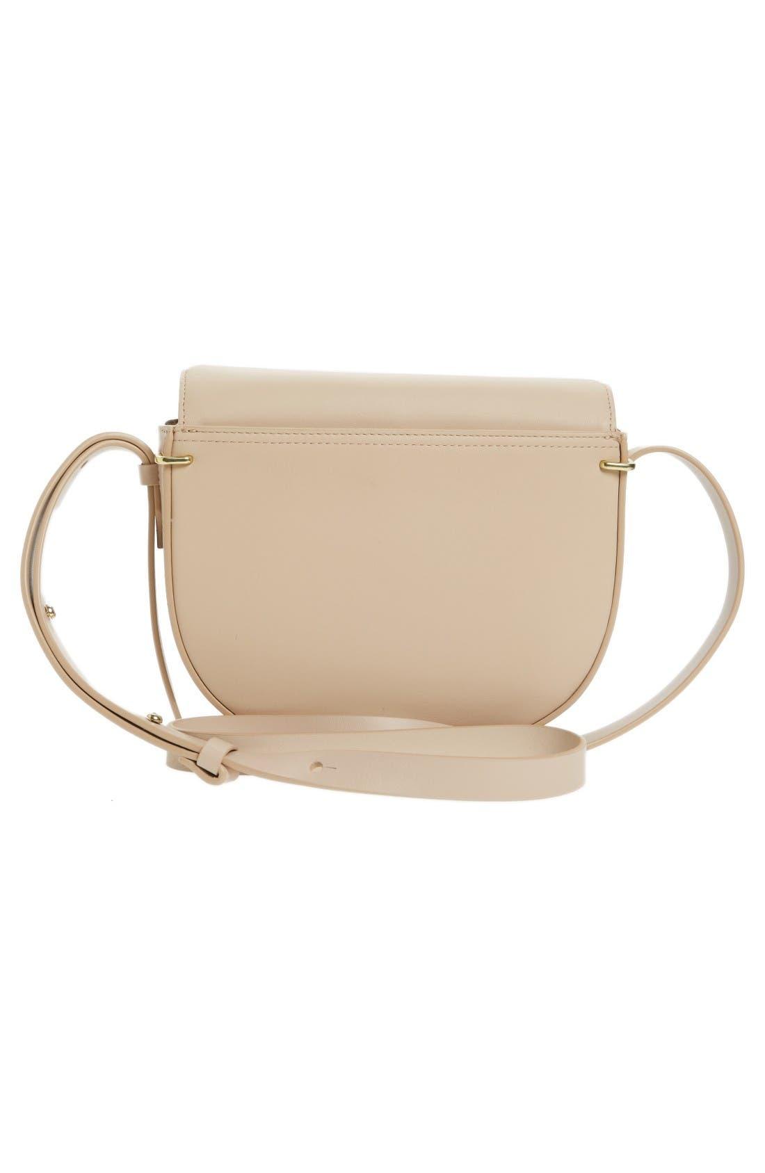 Alix Leather Saddle Bag,                             Alternate thumbnail 2, color,                             Cashew/ Gold
