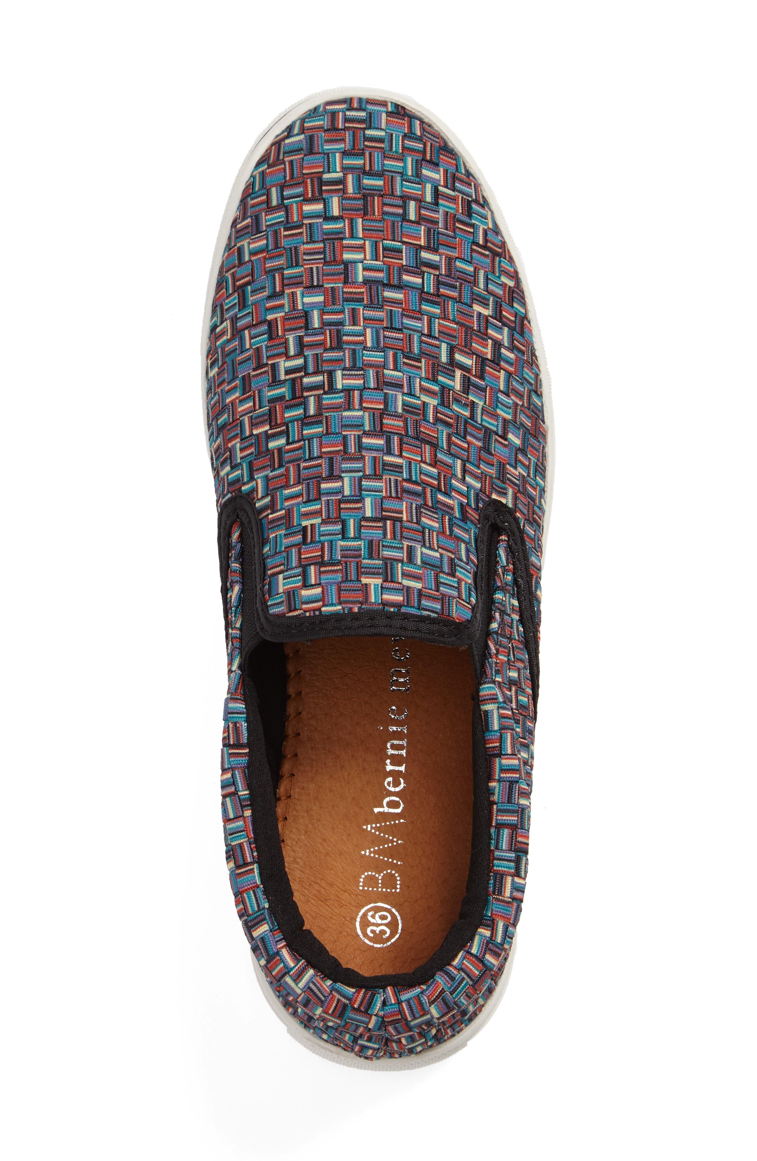 'Verona' Slip-On Sneaker,                             Alternate thumbnail 3, color,                             Lapis Multi Fabric