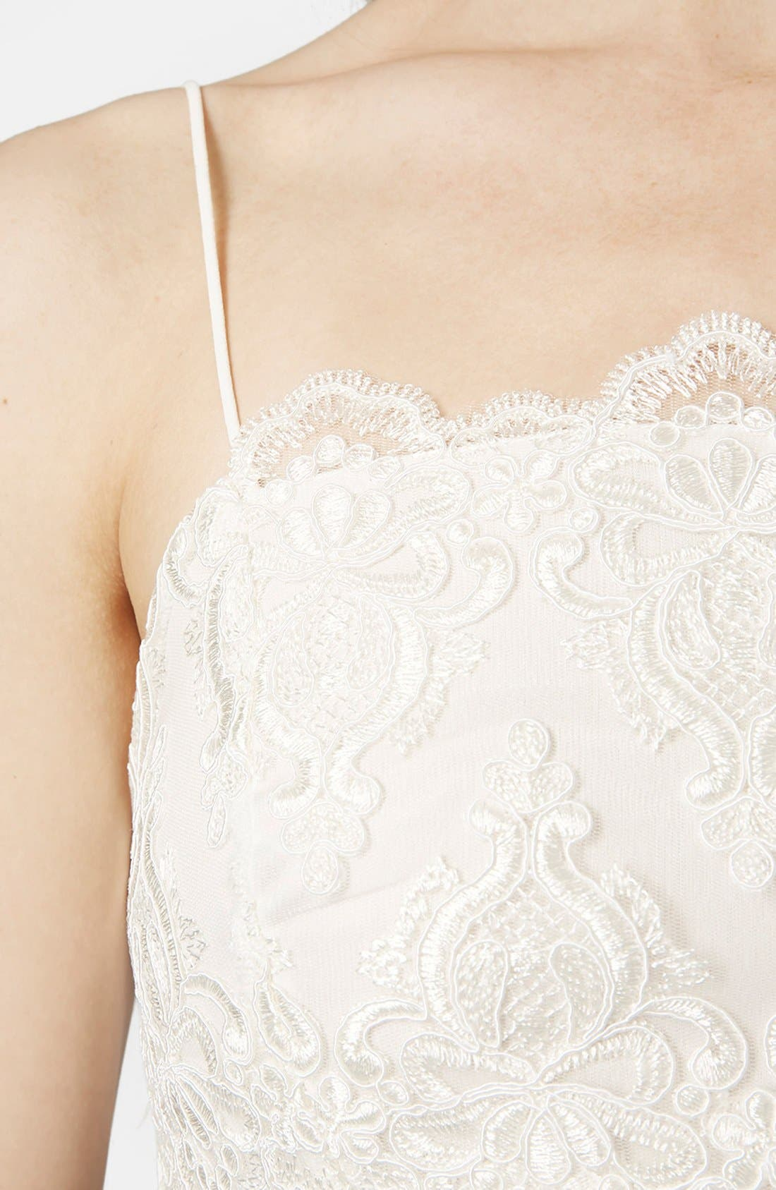 Alternate Image 4  - Topshop Scalloped Lace Bralette