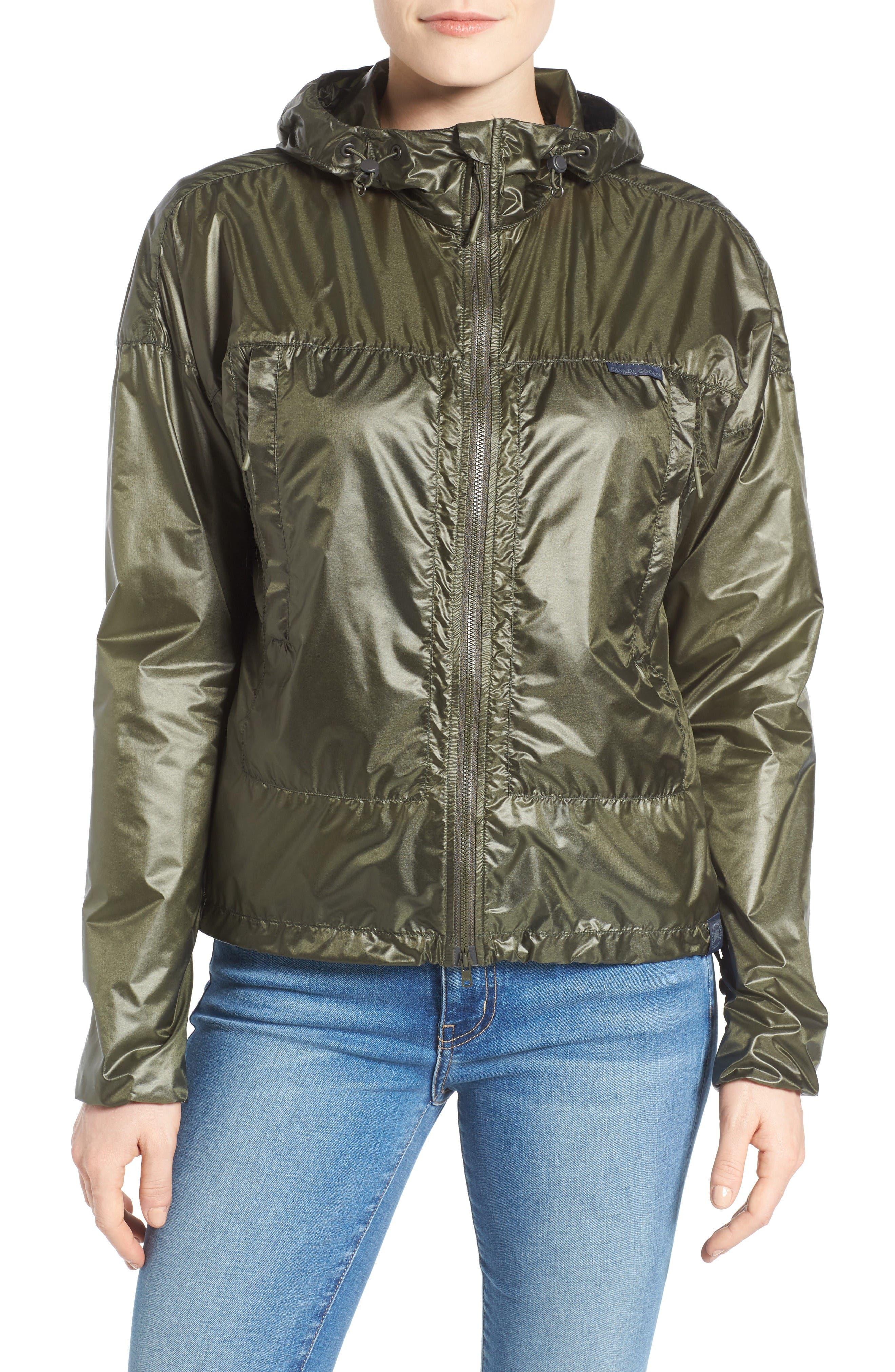 Wabasca Hooded Jacket,                             Alternate thumbnail 4, color,                             Sage