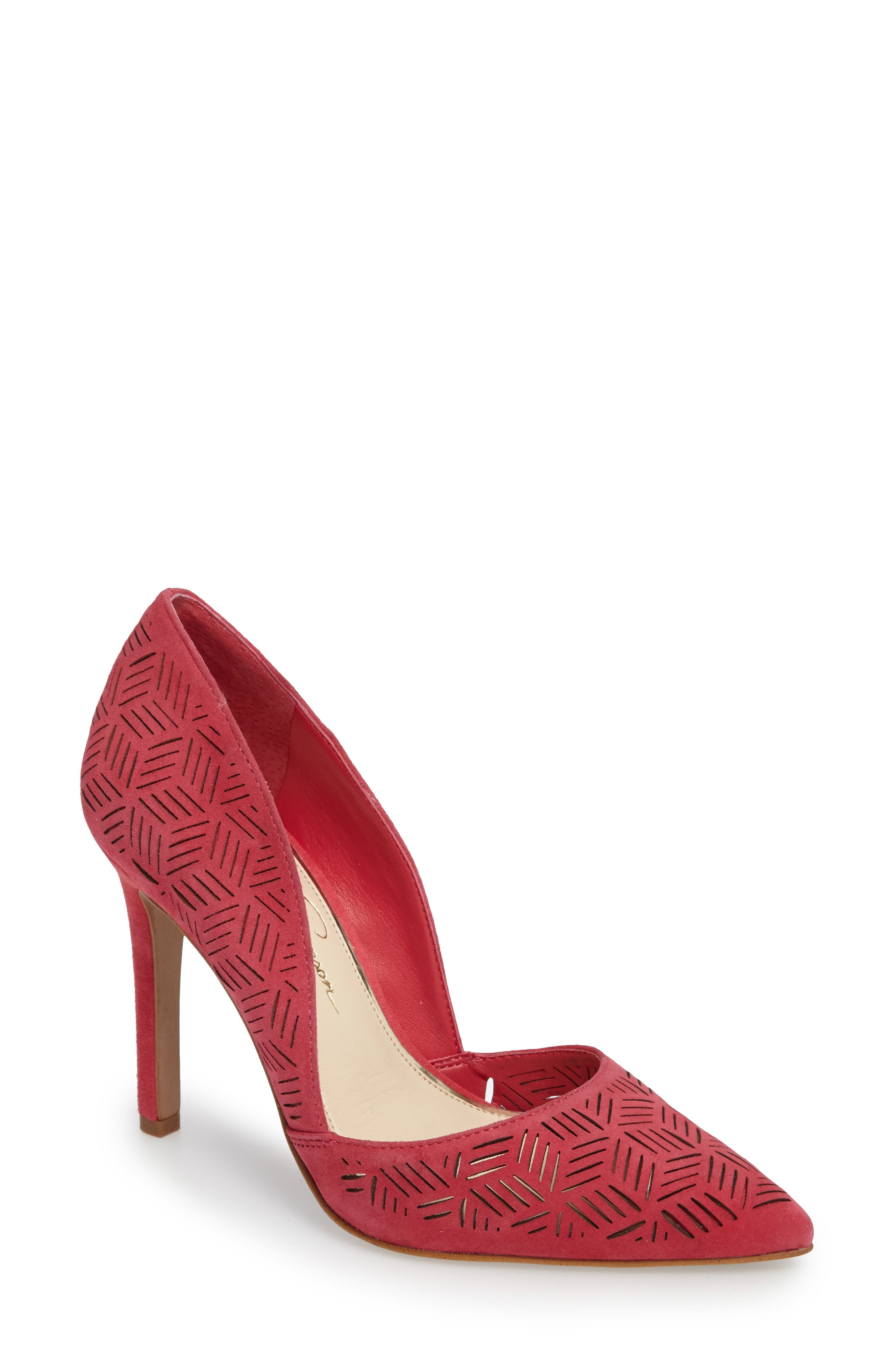 Main Image - Jessica Simpson Charie Pointy Toe d'Orsay Pump (Women)