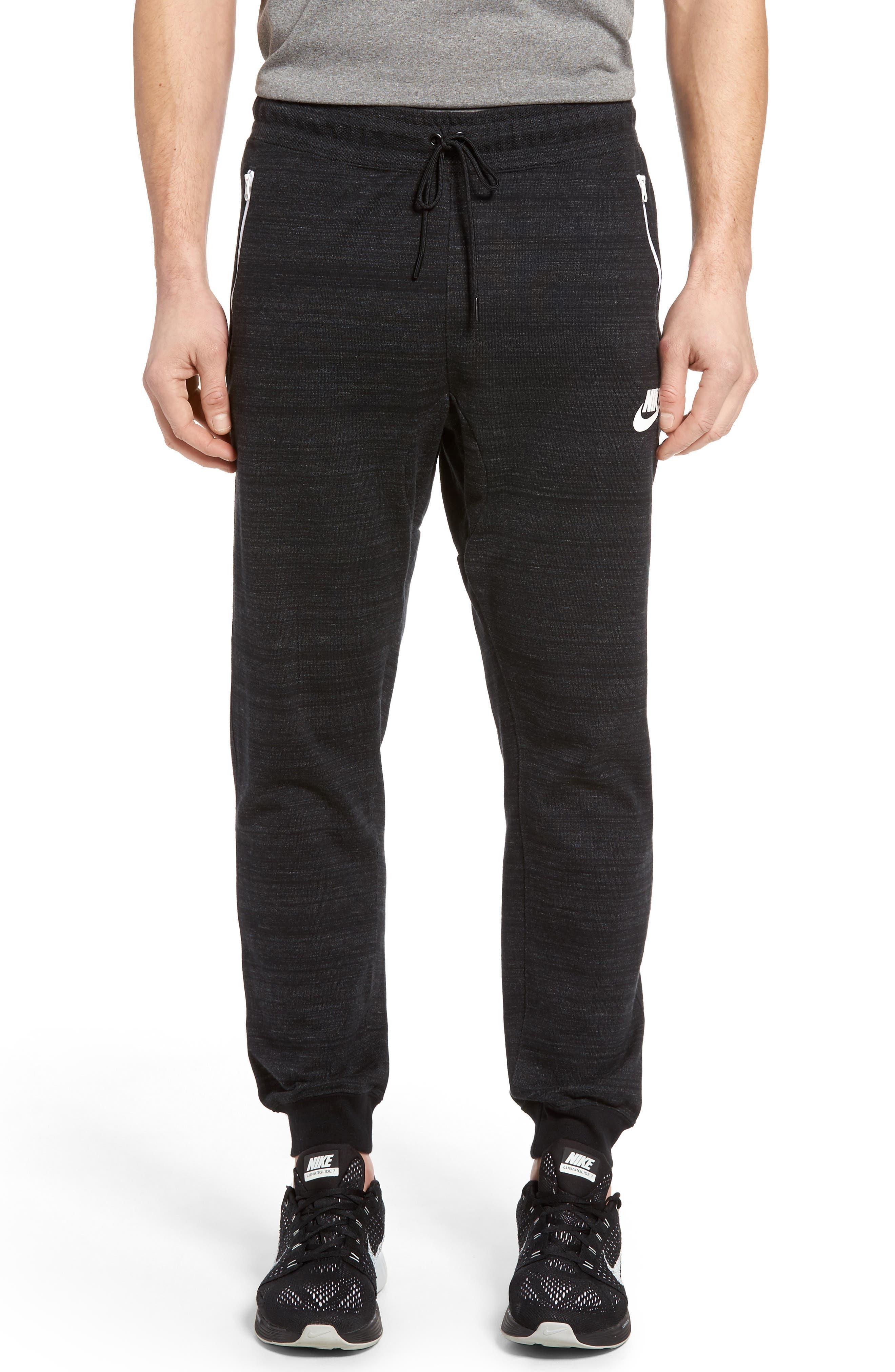 Advance 15 Pants,                         Main,                         color, Black/Htr/White
