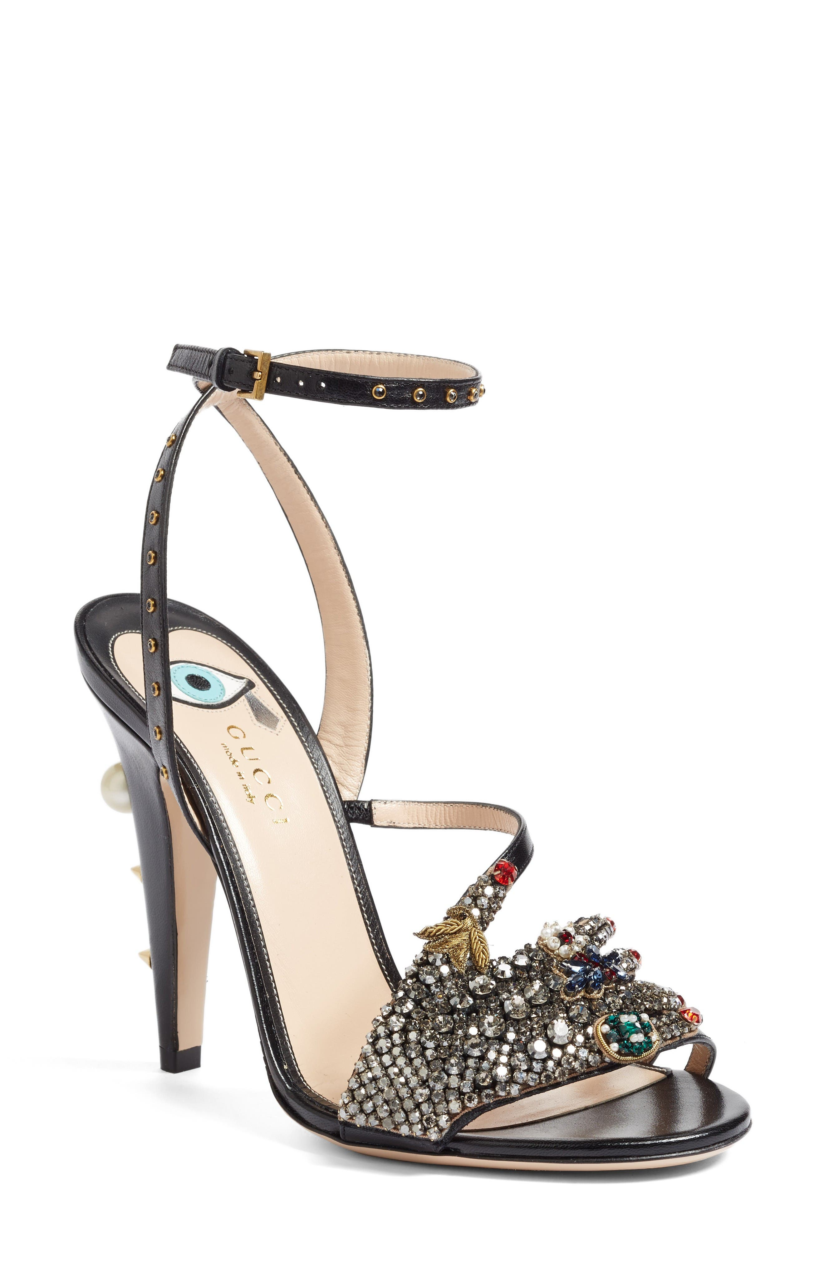 Alternate Image 1 Selected - Gucci Strappy Sandal (Women)