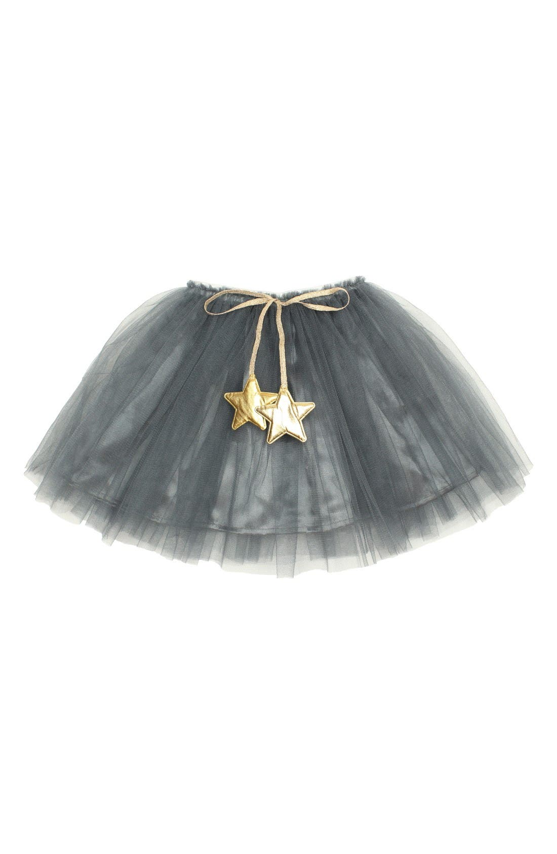 Gold Star Tutu Skirt,                         Main,                         color, Dark Grey