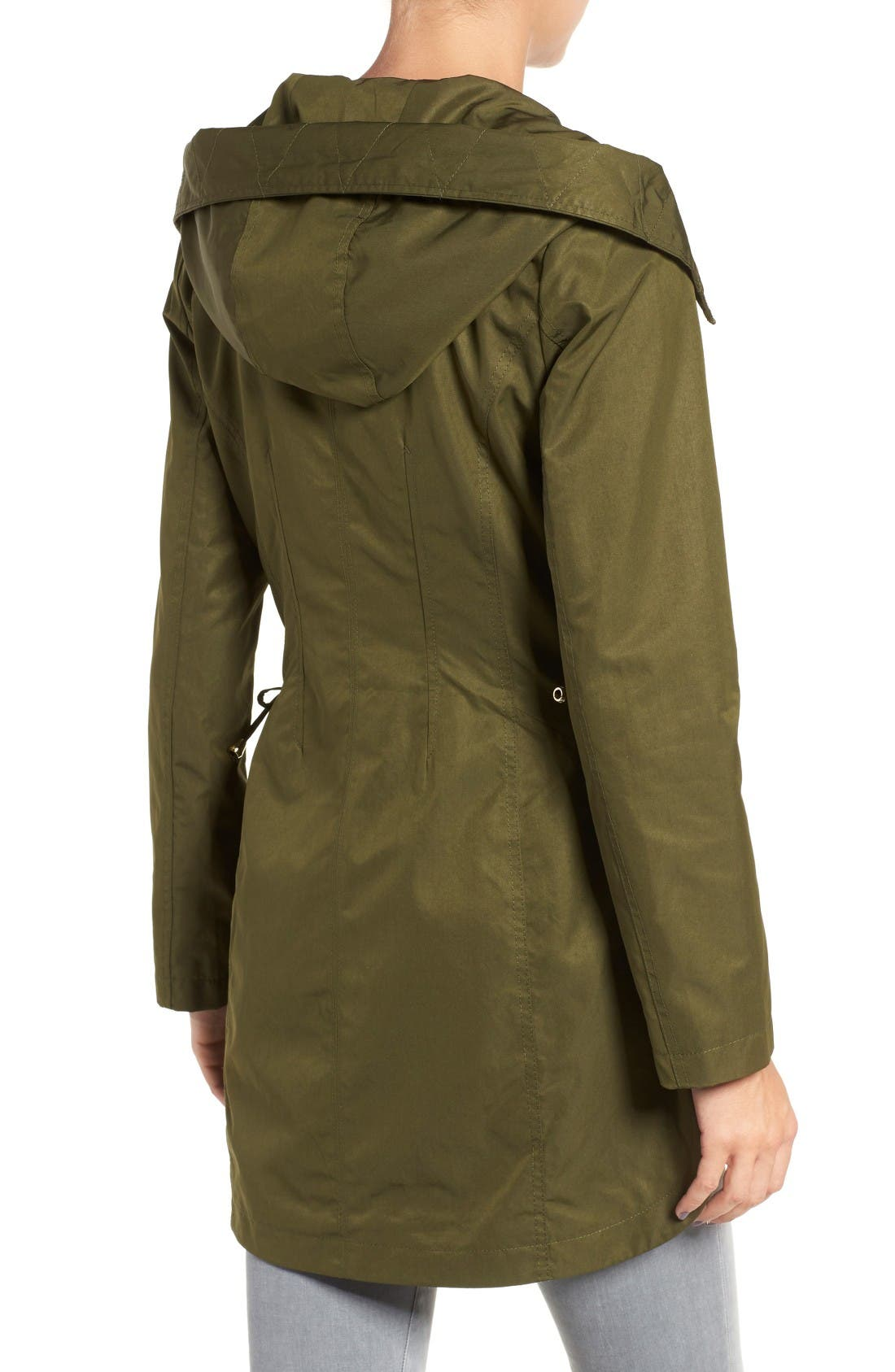 Lace-Up Hooded Utility Coat,                             Alternate thumbnail 2, color,                             Olive
