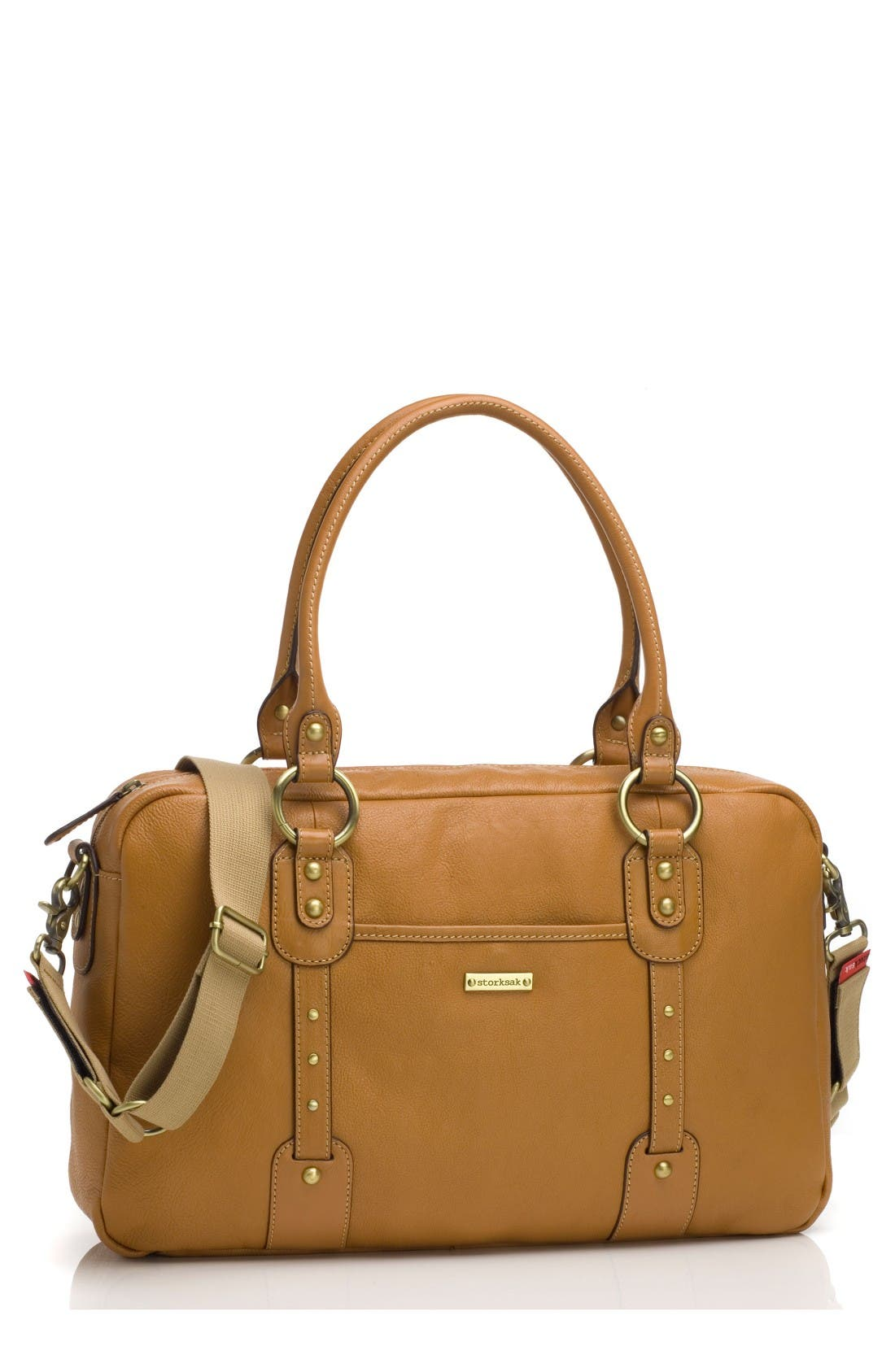 Alternate Image 1 Selected - Storksak Elizabeth Leather Diaper Bag