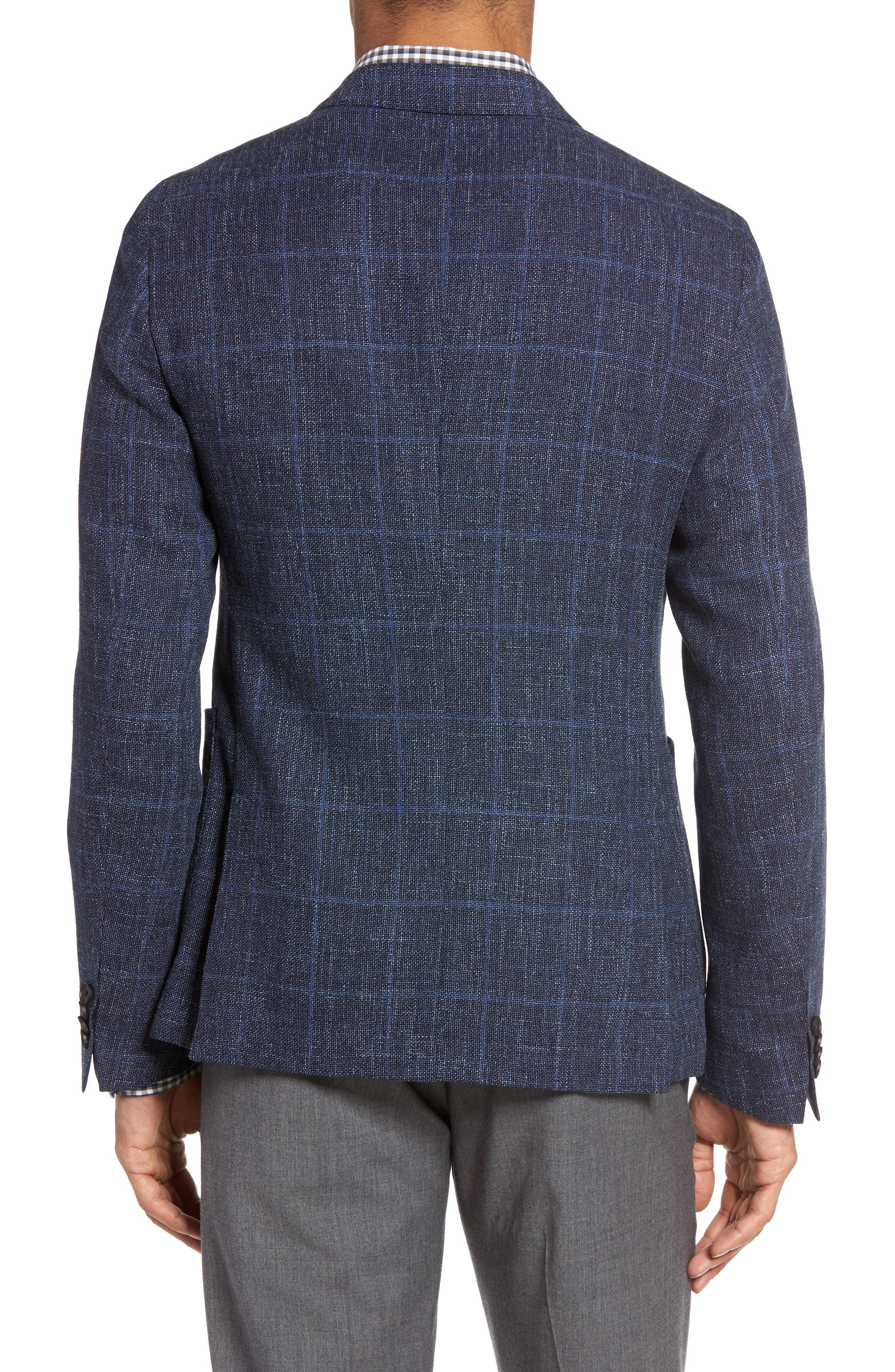 Alternate Image 2  - BOSS Nold Trim Fit Unconstructed Wool Blend Sport Coat