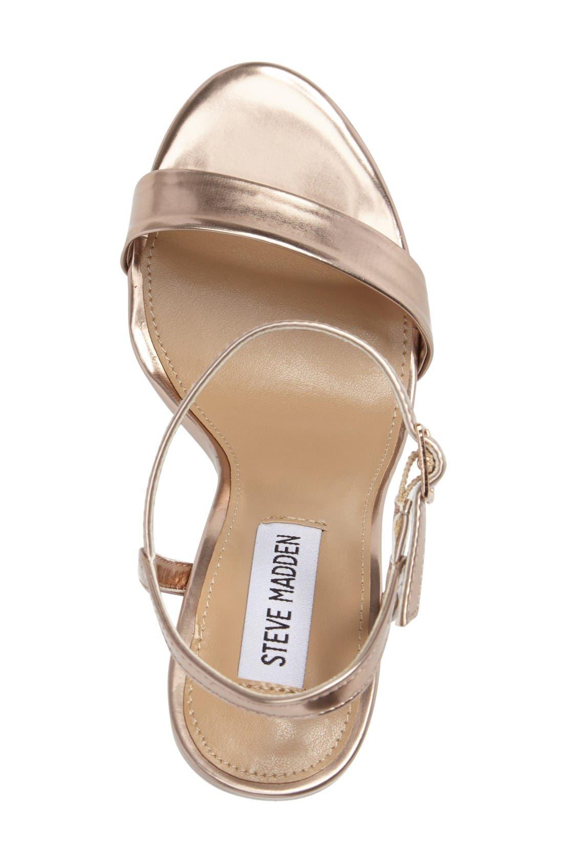 Alternate Image 3  - Steve Madden Vallery Clear Heeled Sandal (Women)