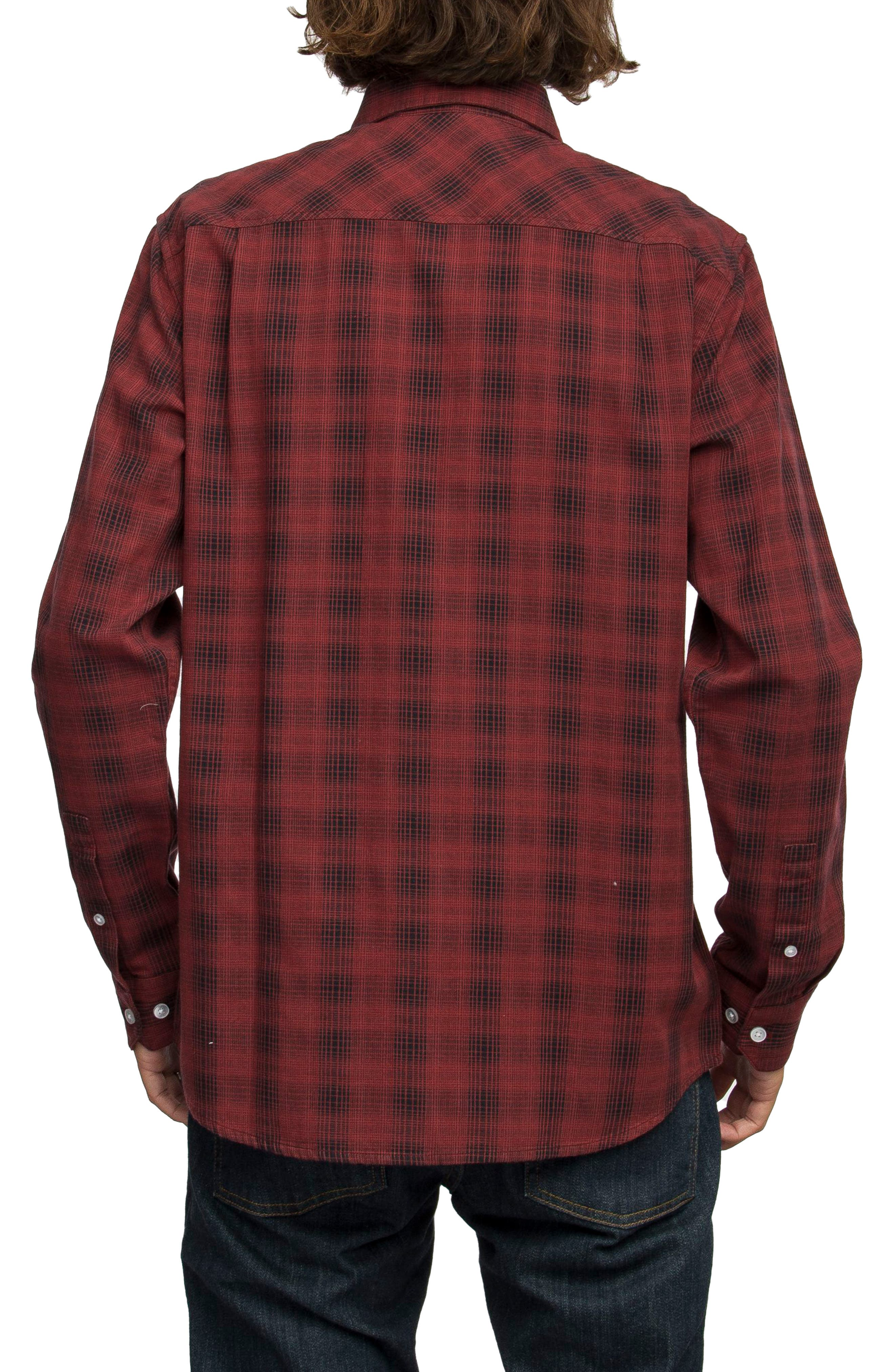 Alternate Image 2  - RVCA Trample Plaid Flannel Shirt