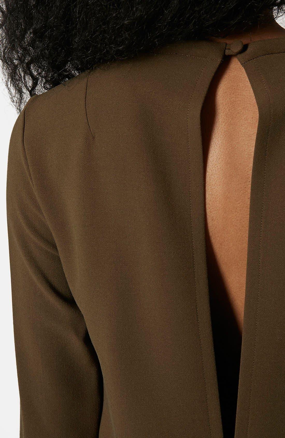 Utility Pocket Tunic Dress,                             Alternate thumbnail 4, color,                             Olive
