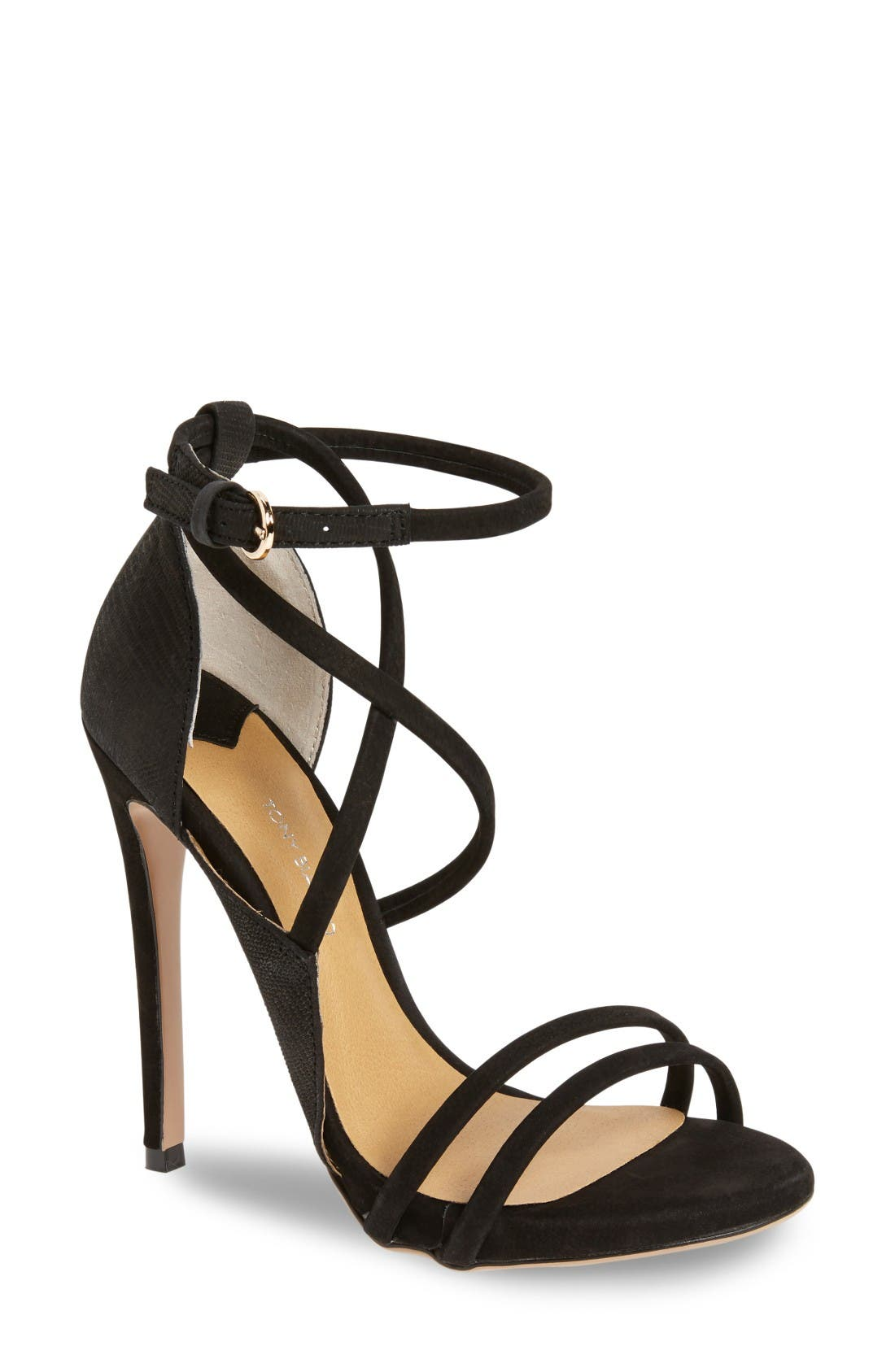 Alita Strappy Sandal,                         Main,                         color, Black Chicago/ Black Berlin