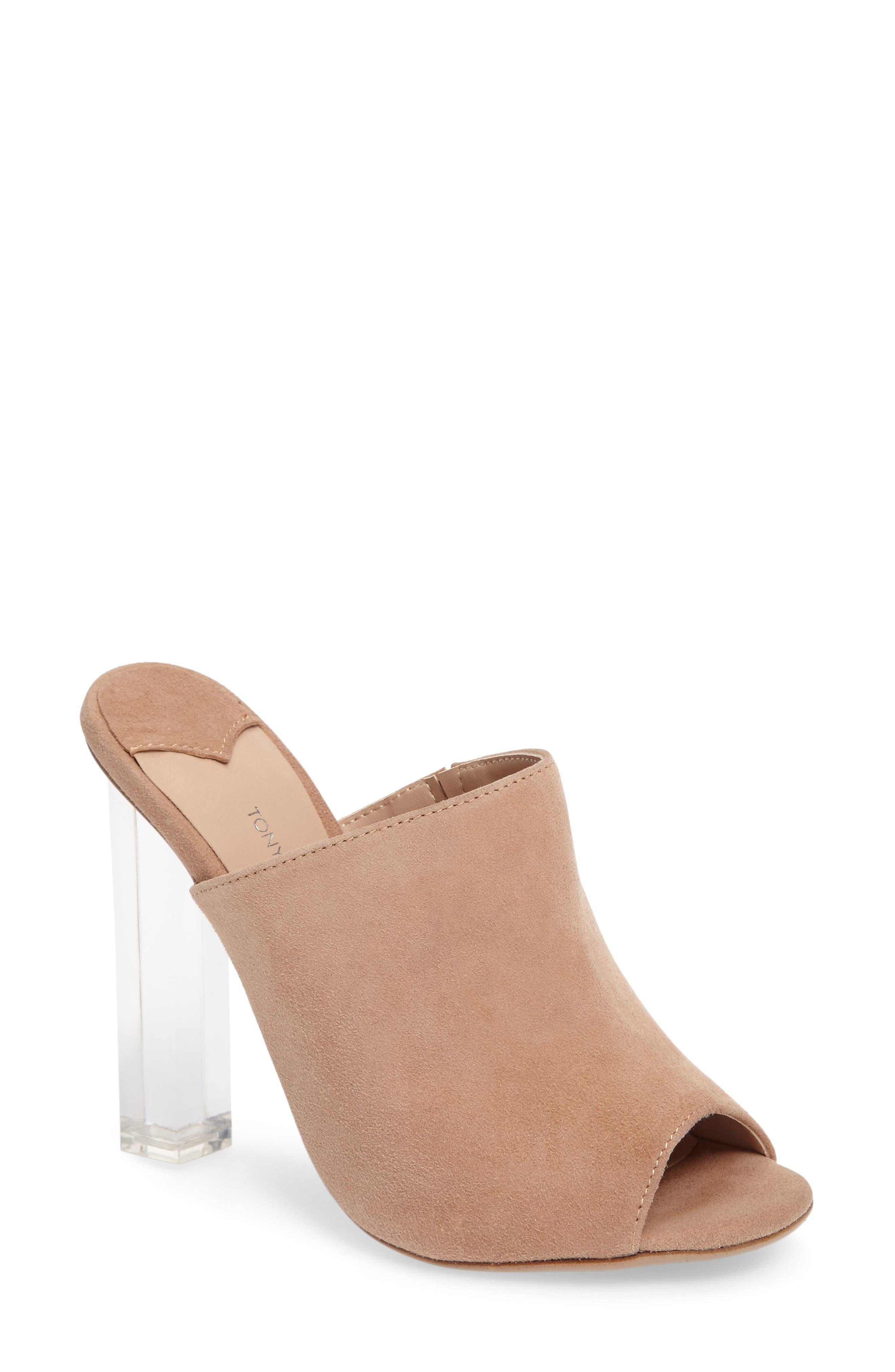 Alternate Image 1 Selected - Tony Bianco Kitzy Clear Heel Mule (Women)
