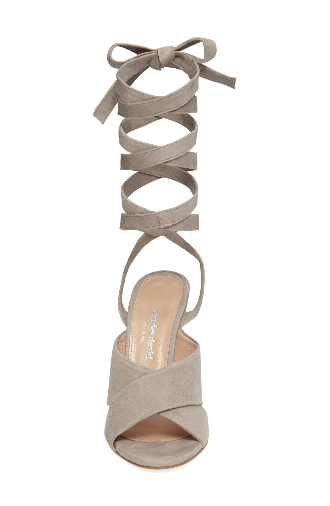 Alternate Image 3  - Charles David Quest Wraparound Lace Sandal (Women)
