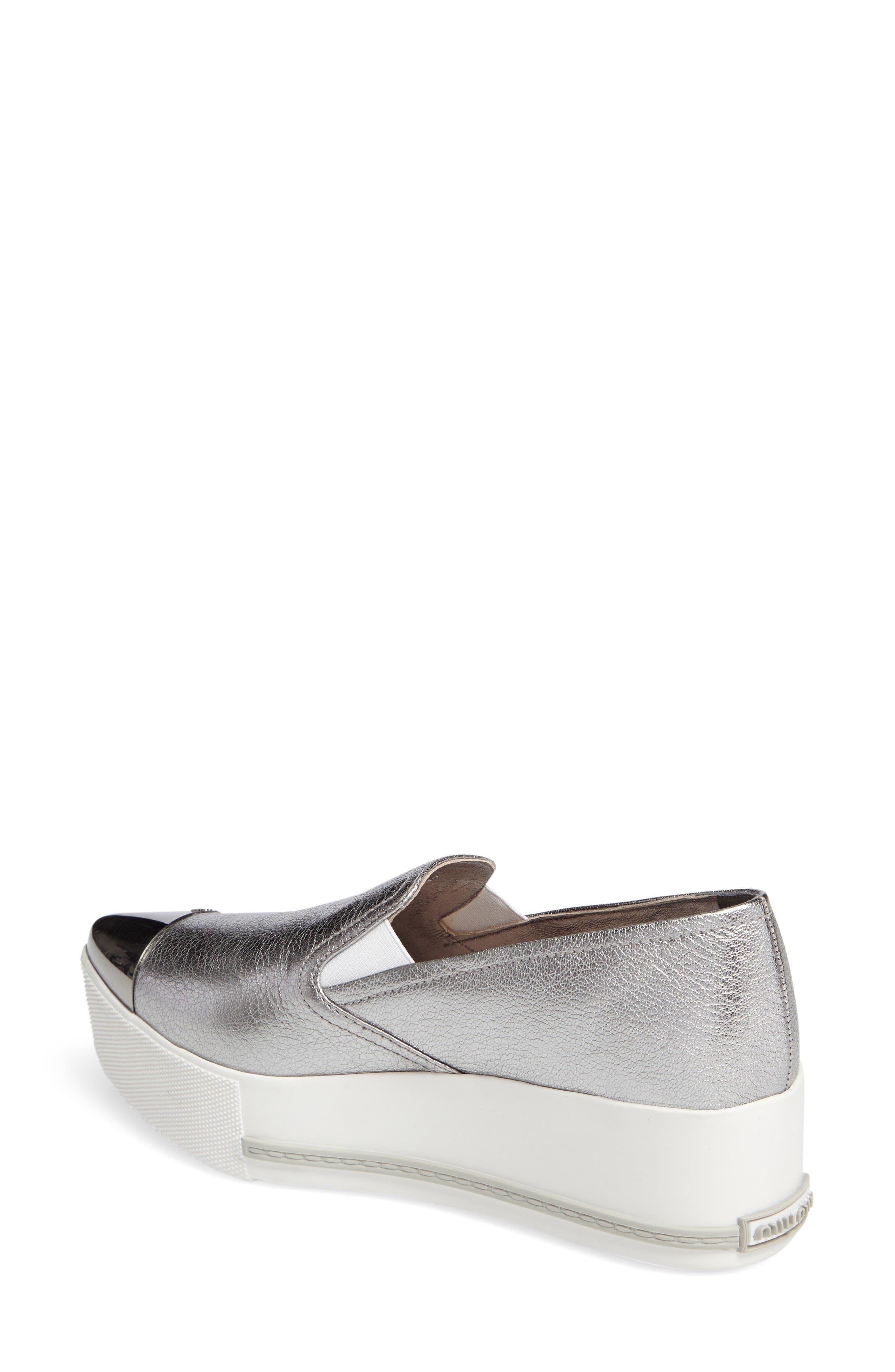 Alternate Image 2  - Miu Miu Metal Cap Toe Platform Sneaker (Women)
