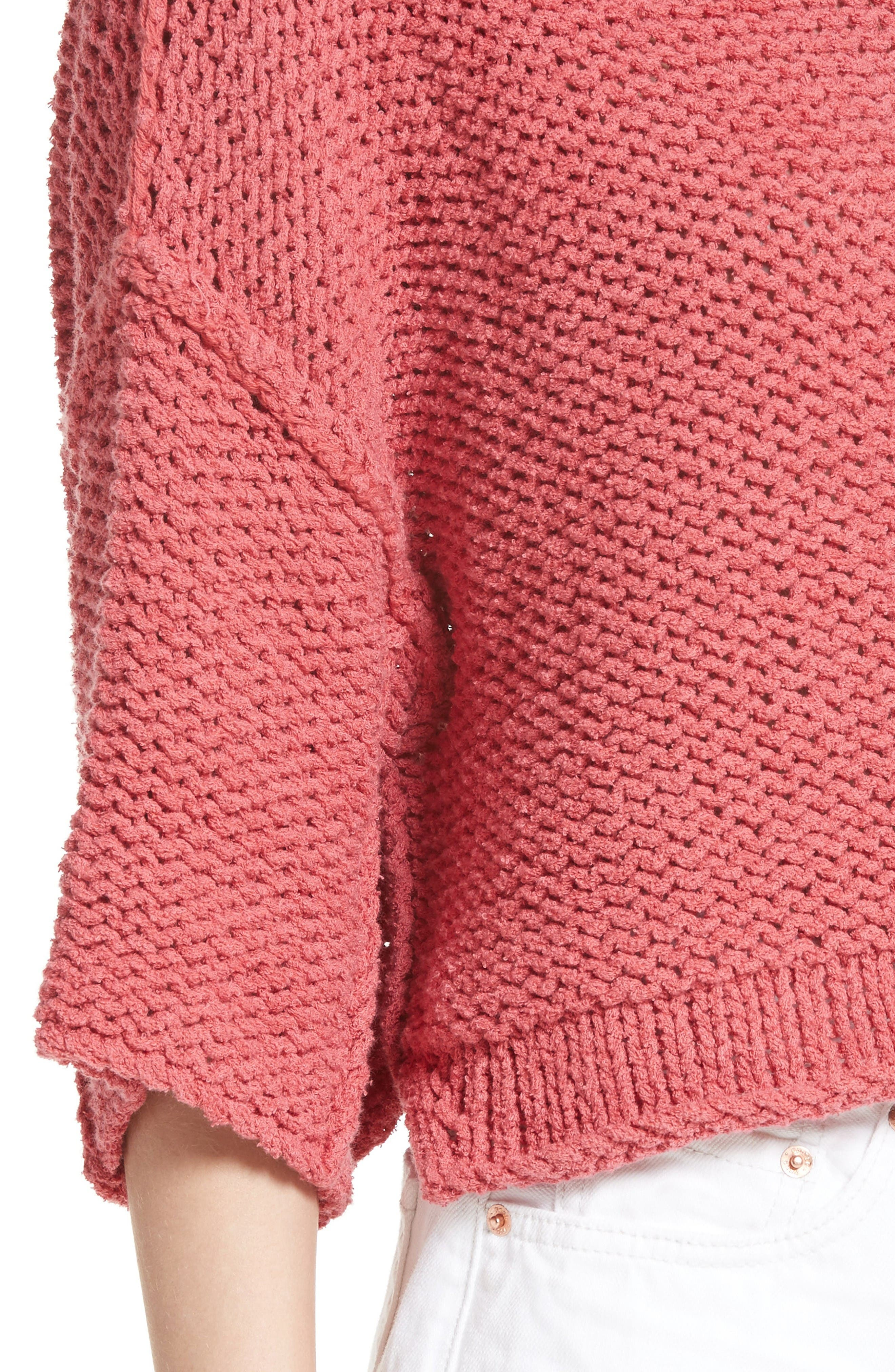 Halo Pullover,                             Alternate thumbnail 4, color,                             Coral