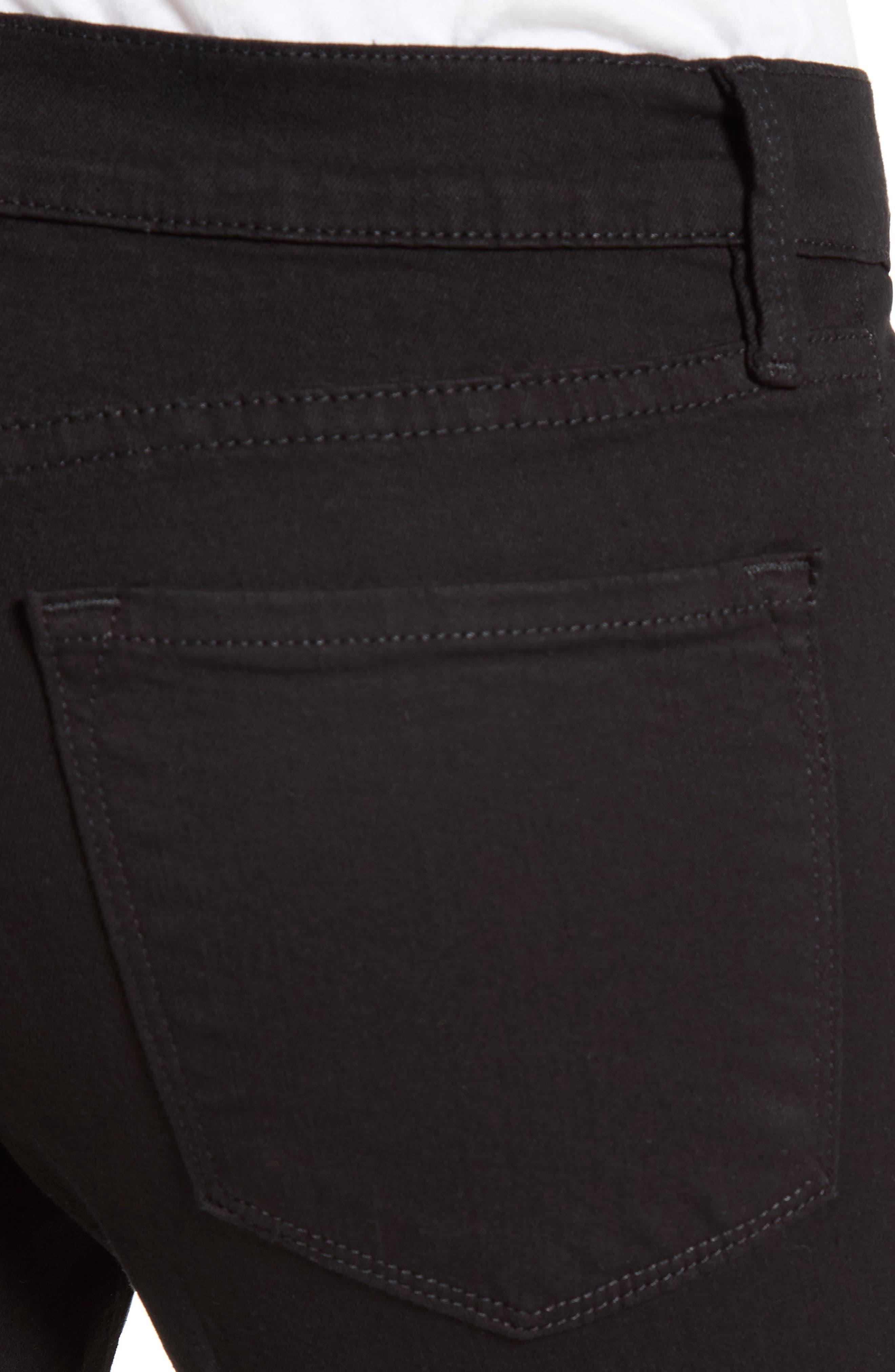 Alternate Image 4  - FRAME Distressed Release Hem Skinny Jeans