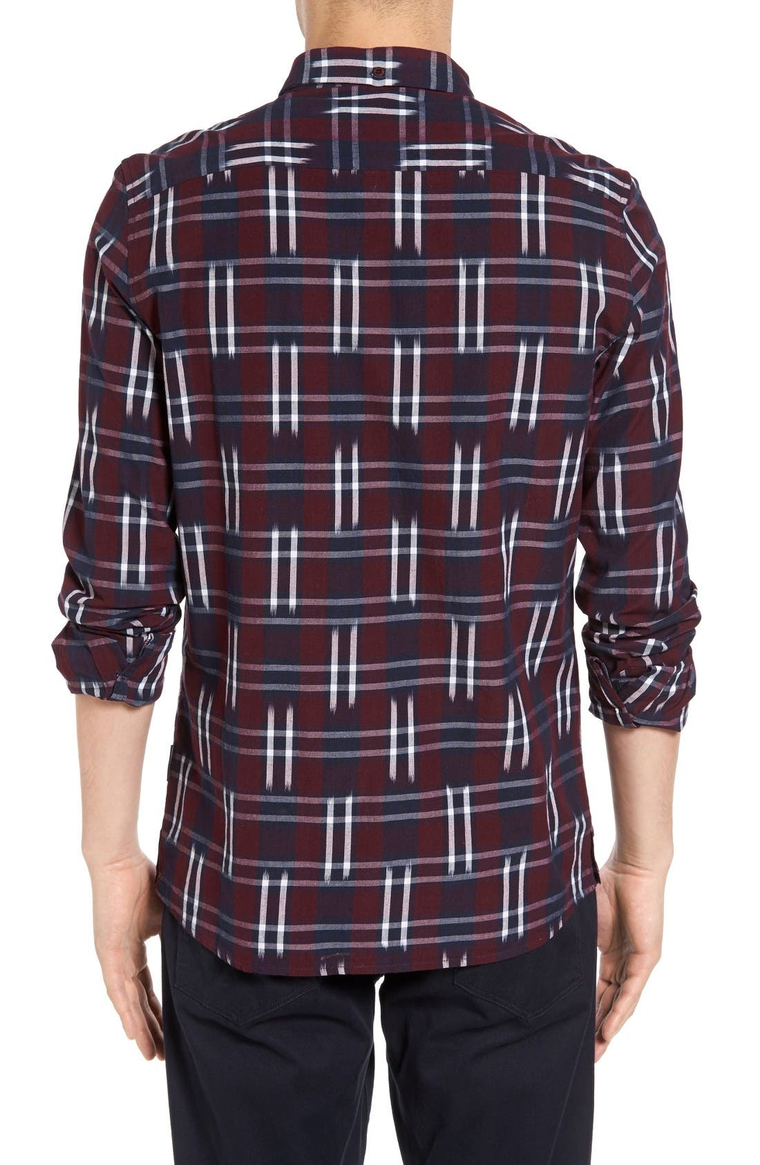 Alternate Image 2  - French Connection Slim Fit Ikat Check Sport Shirt