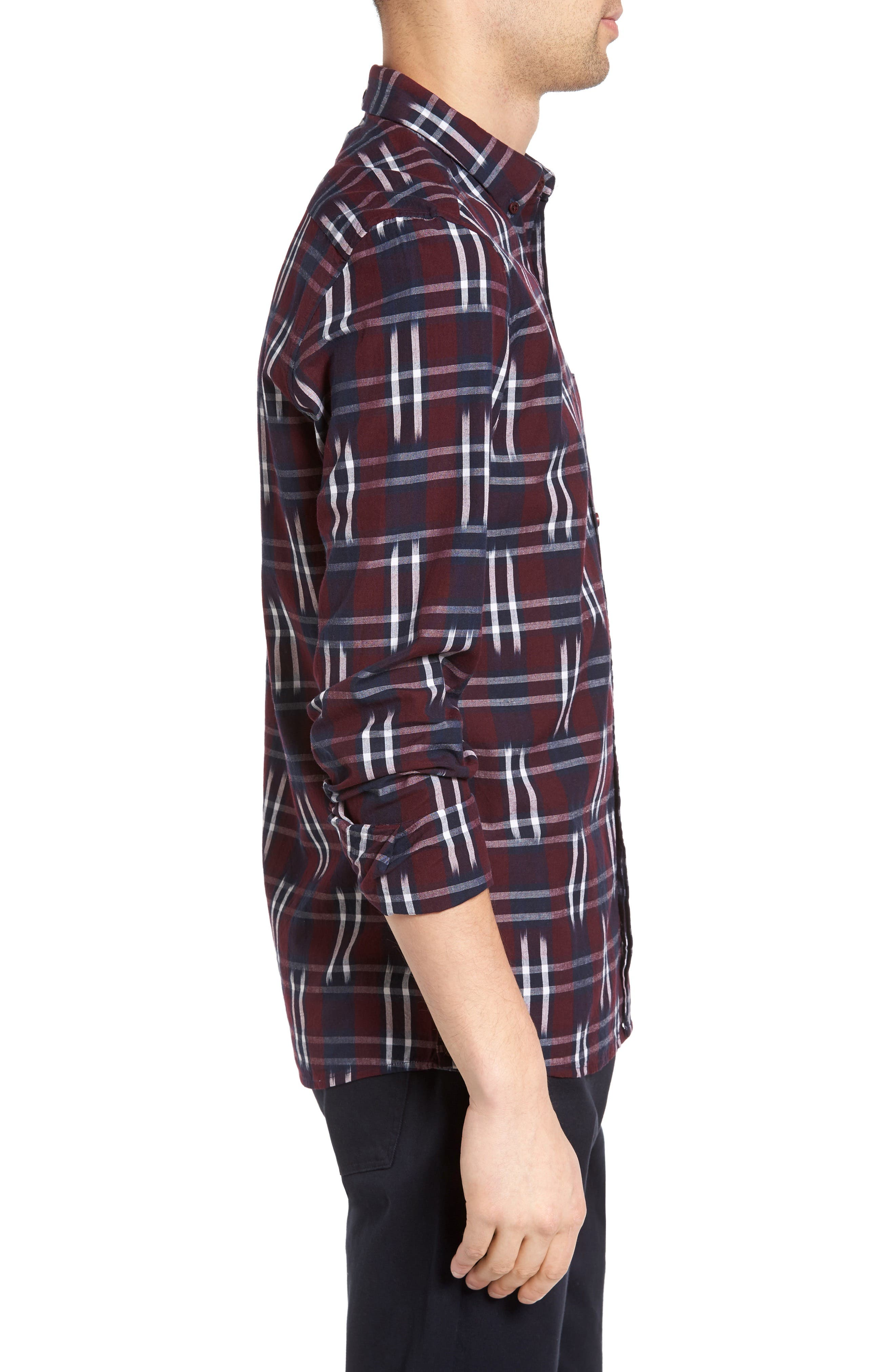 Alternate Image 3  - French Connection Slim Fit Ikat Check Sport Shirt