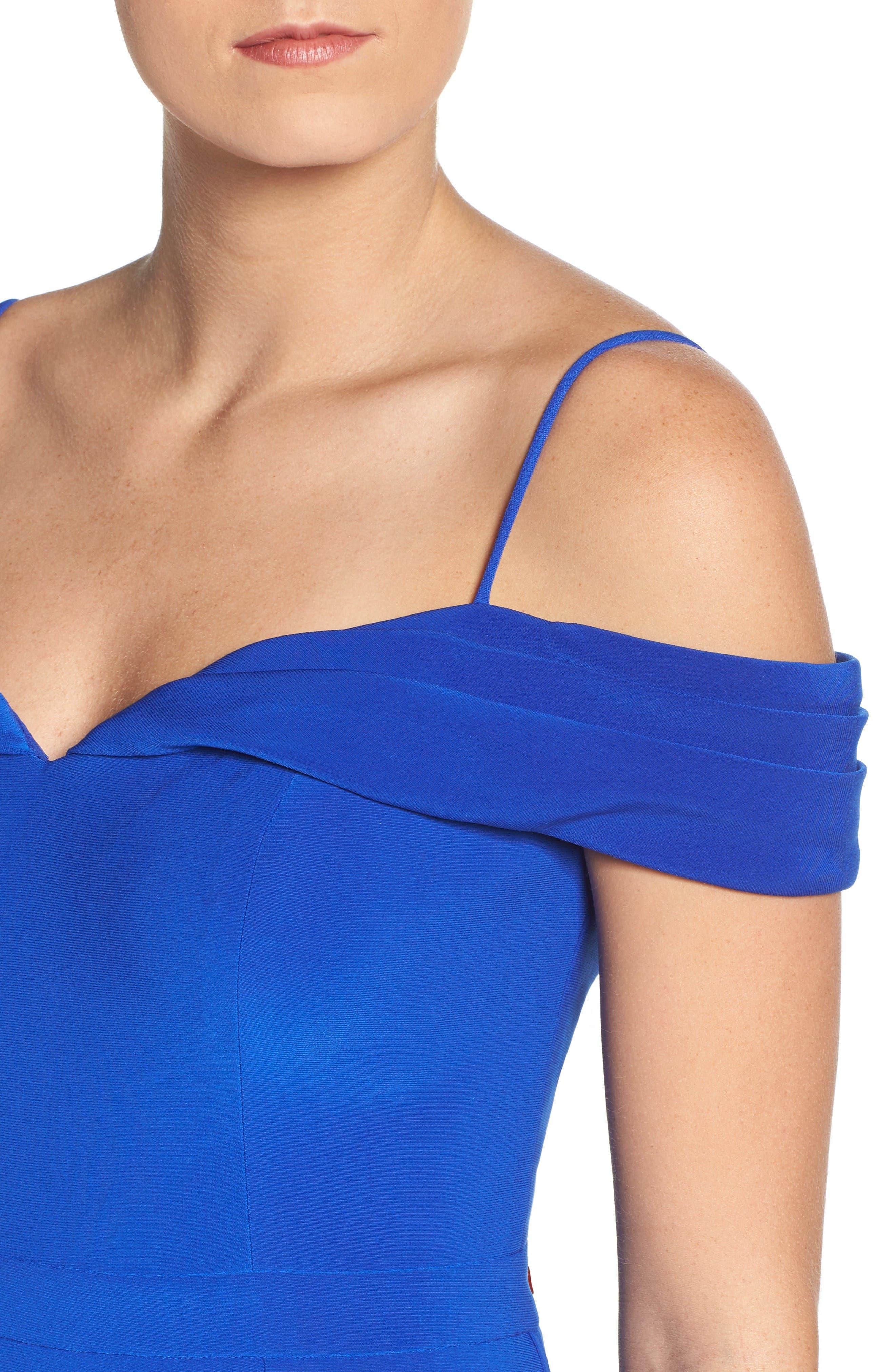 Alternate Image 4  - Morgan & Co. Off the Shoulder Gown