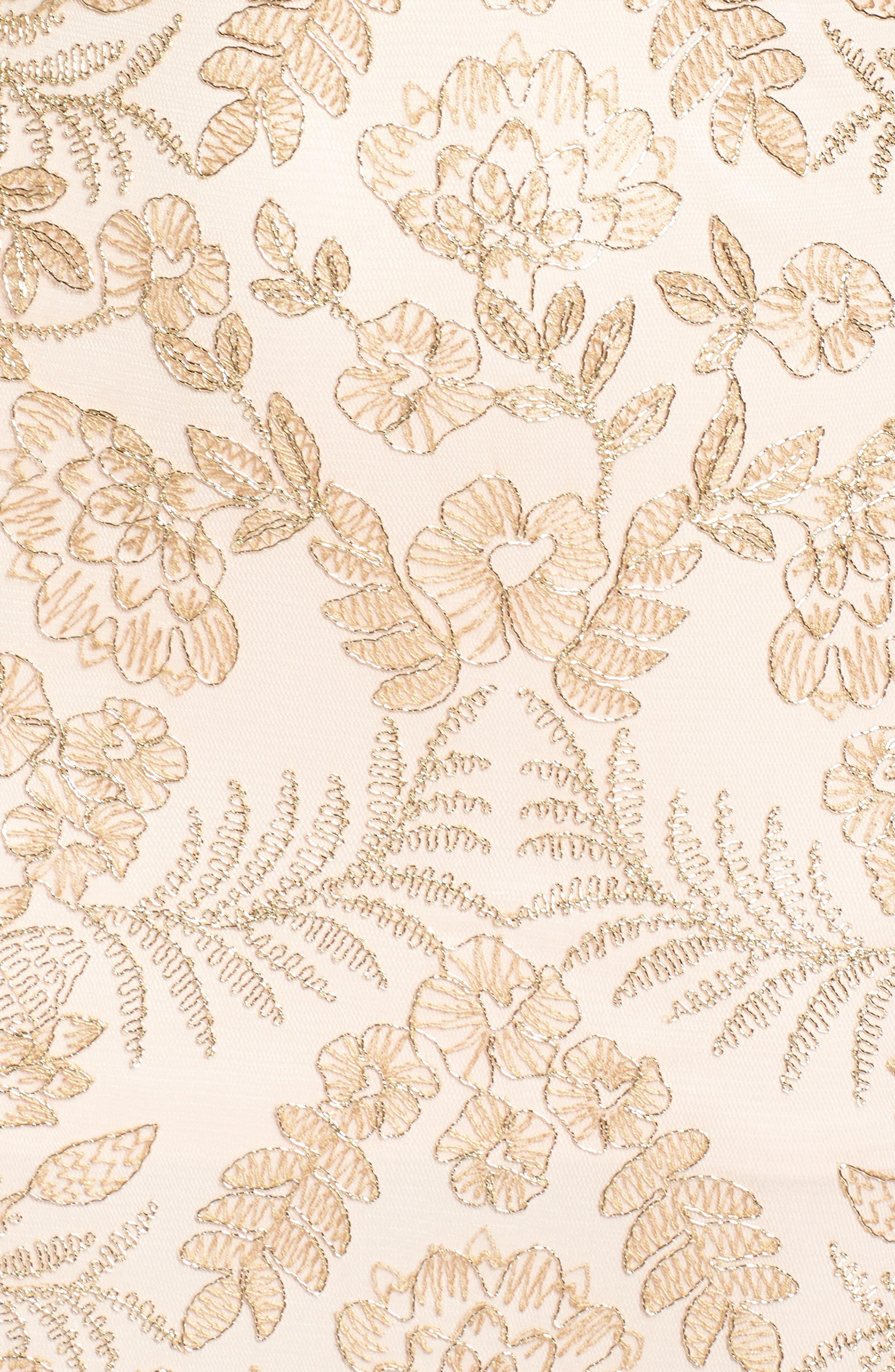 Alternate Image 5  - Tadashi Shoji Embroidered Gown (Regular & Petite)