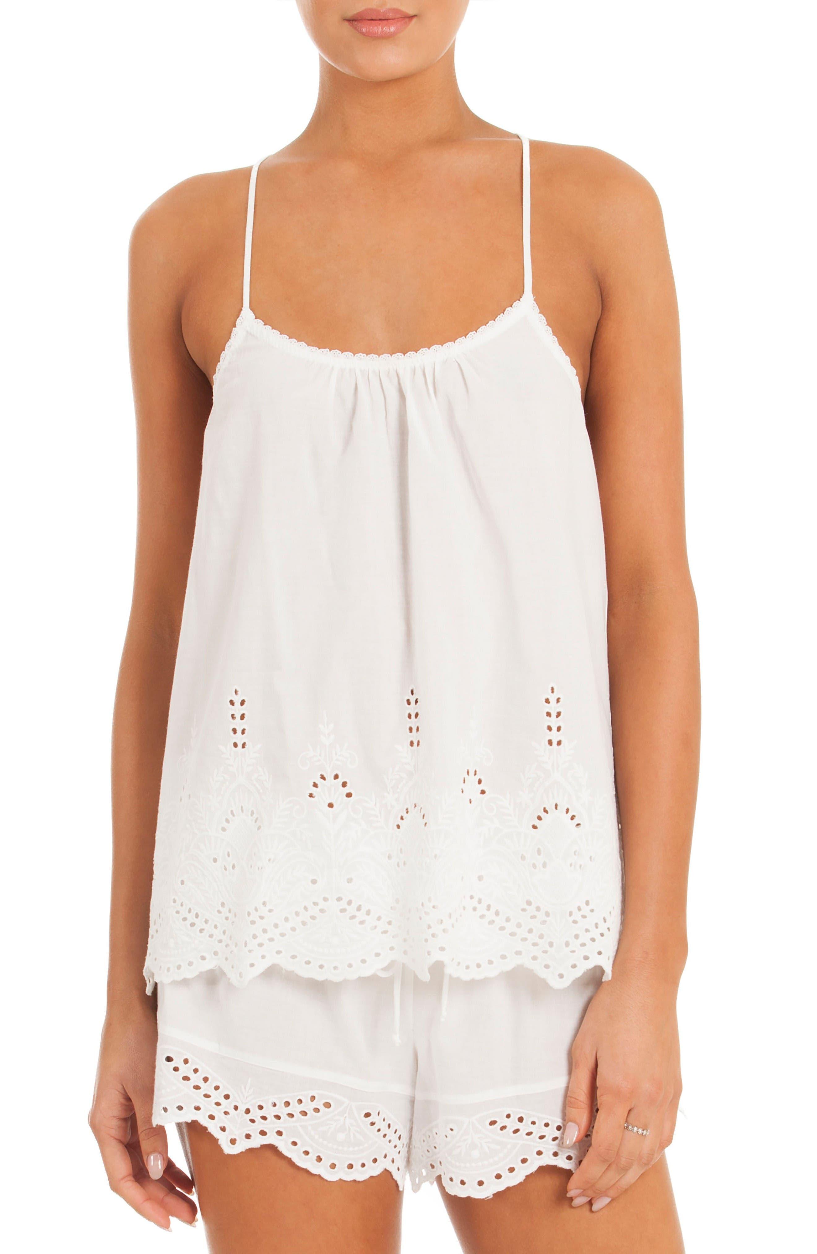 Eyelet Pajamas,                         Main,                         color, White