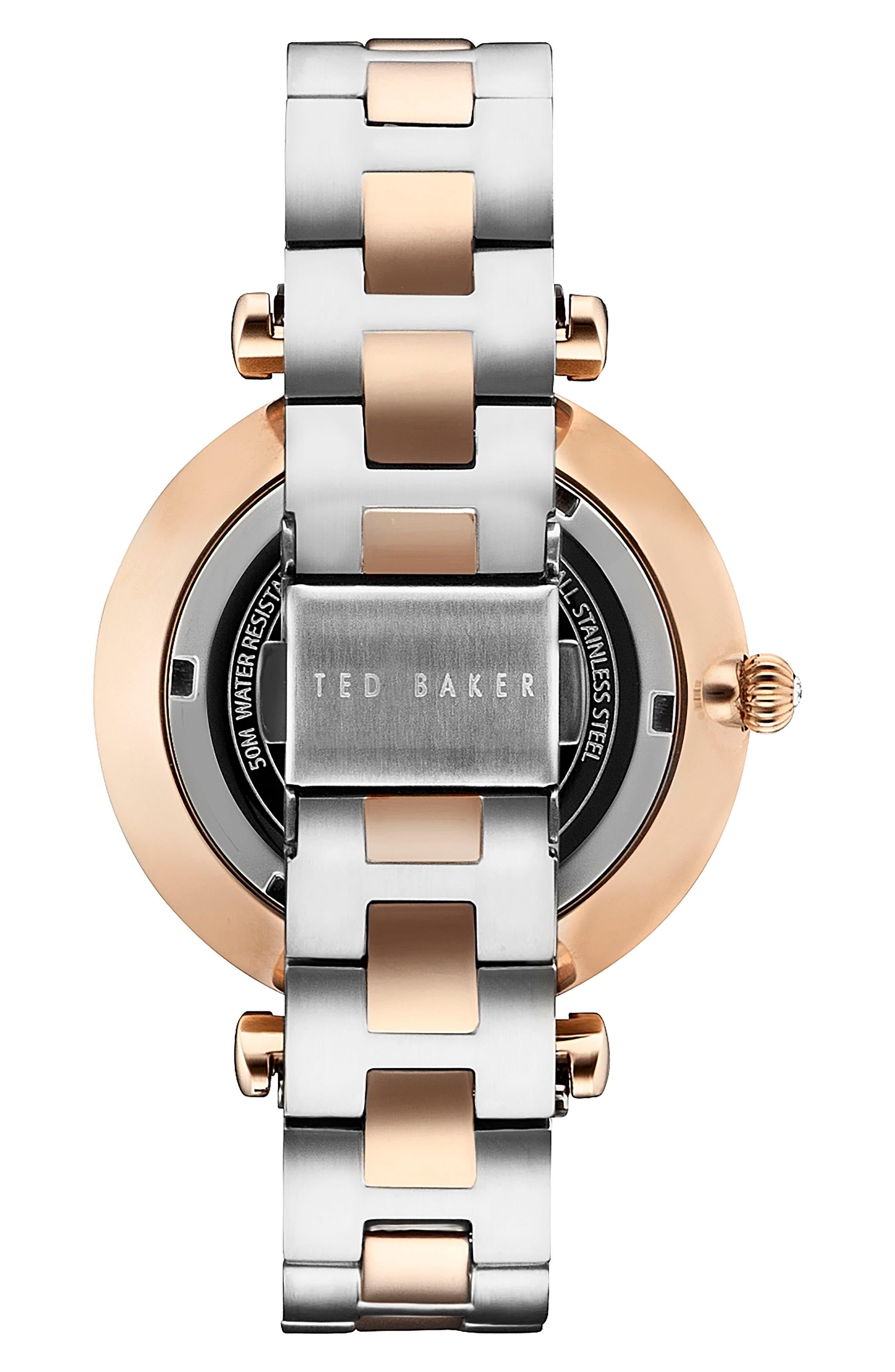 Ava Bracelet Watch, 36mm,                             Alternate thumbnail 2, color,                             Silver/ Rose Gold