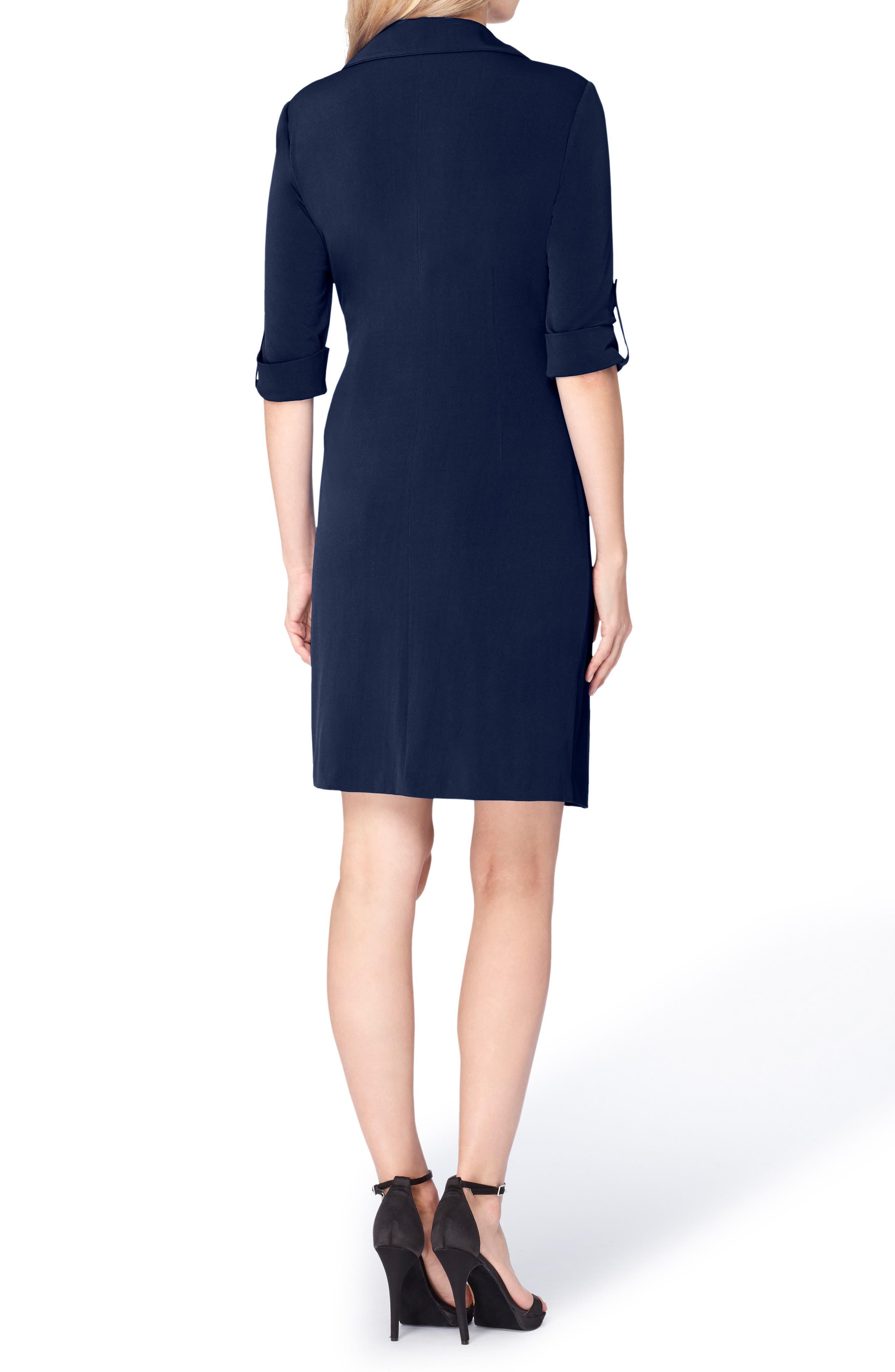 Alternate Image 2  - Tahari Jersey Wrap Shirtdress (Regular & Petite)