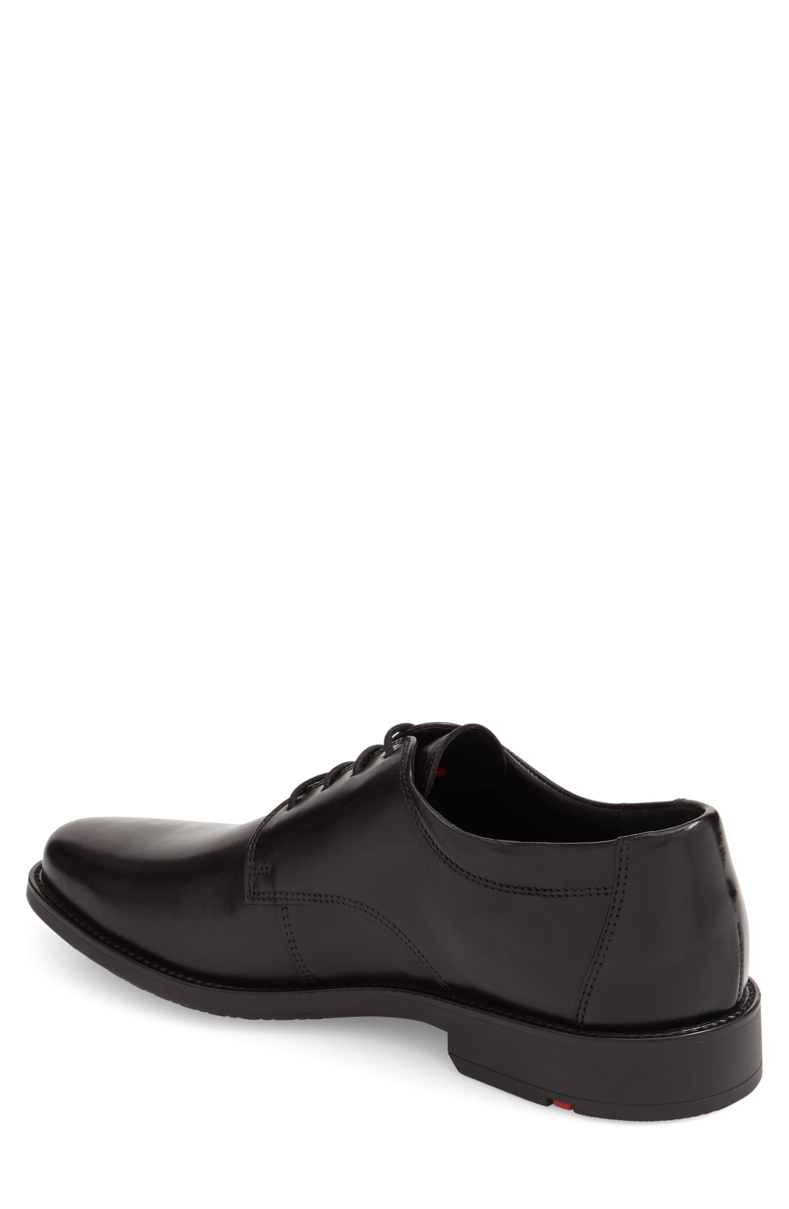 Nevio Plain Toe Derby,                             Alternate thumbnail 2, color,                             Black