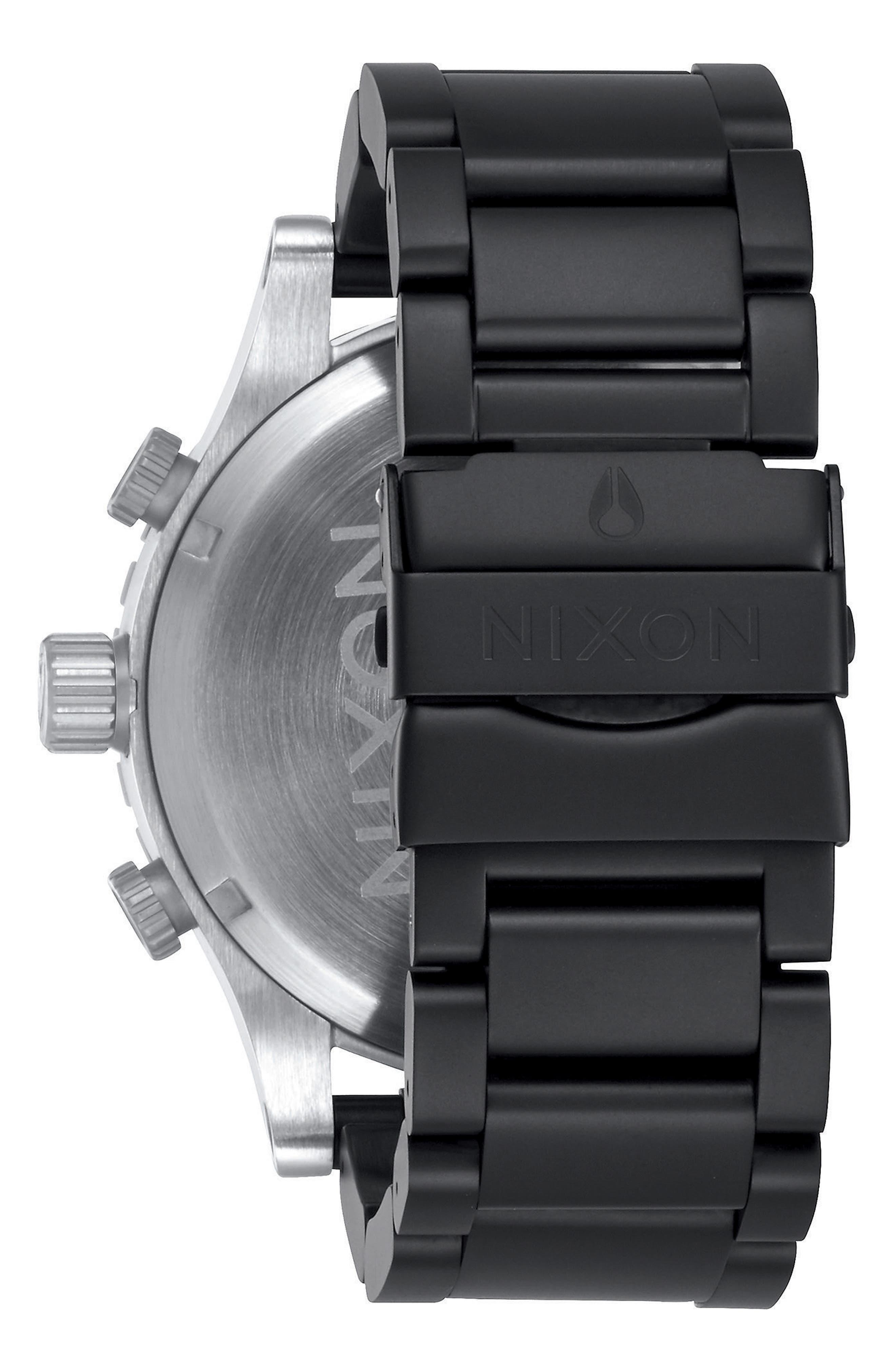 51-30 Chronograph Watch, 51mm,                             Alternate thumbnail 2, color,                             Black/ Steel