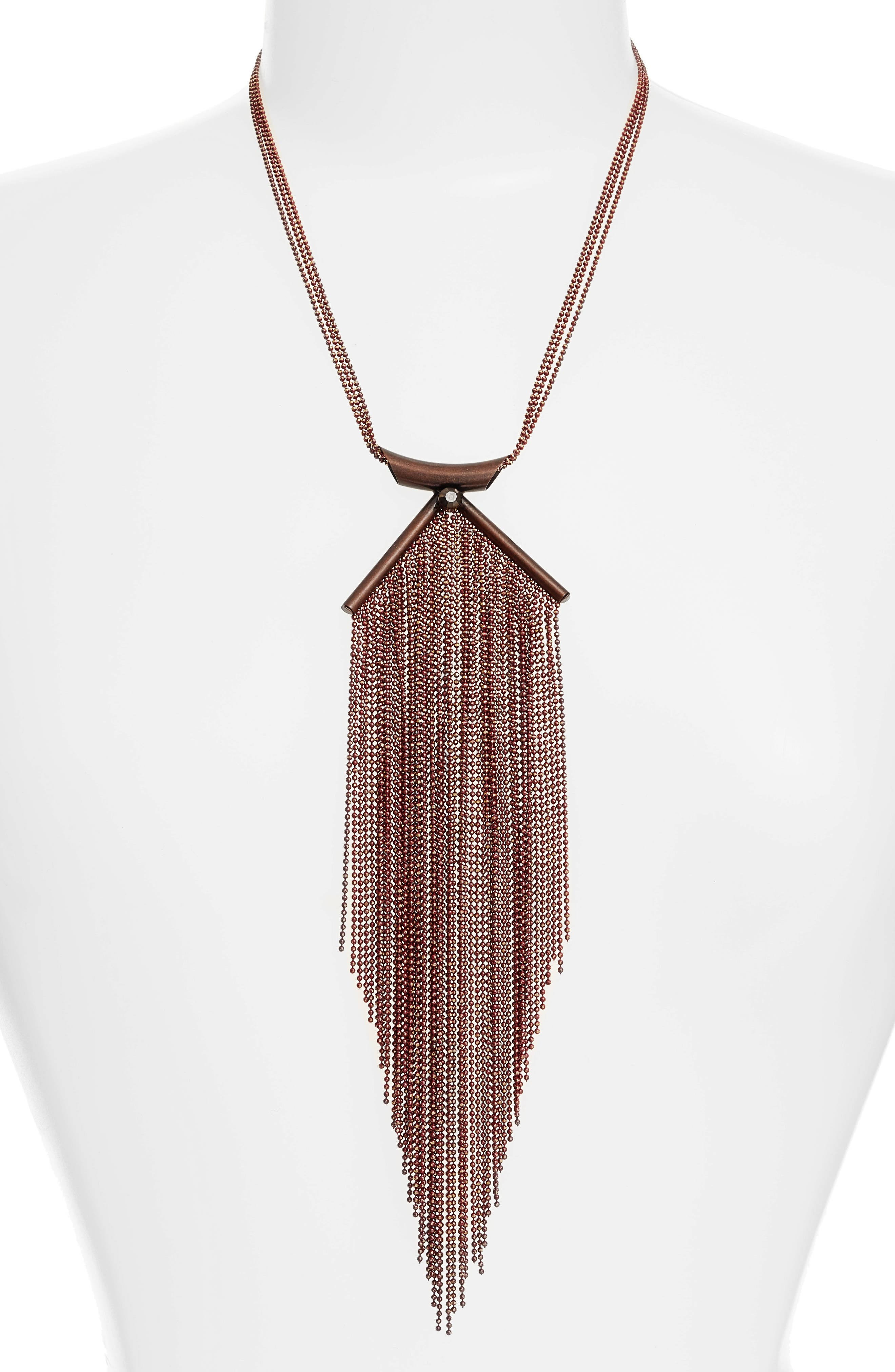 Lina Waterfall Necklace,                         Main,                         color, Copper